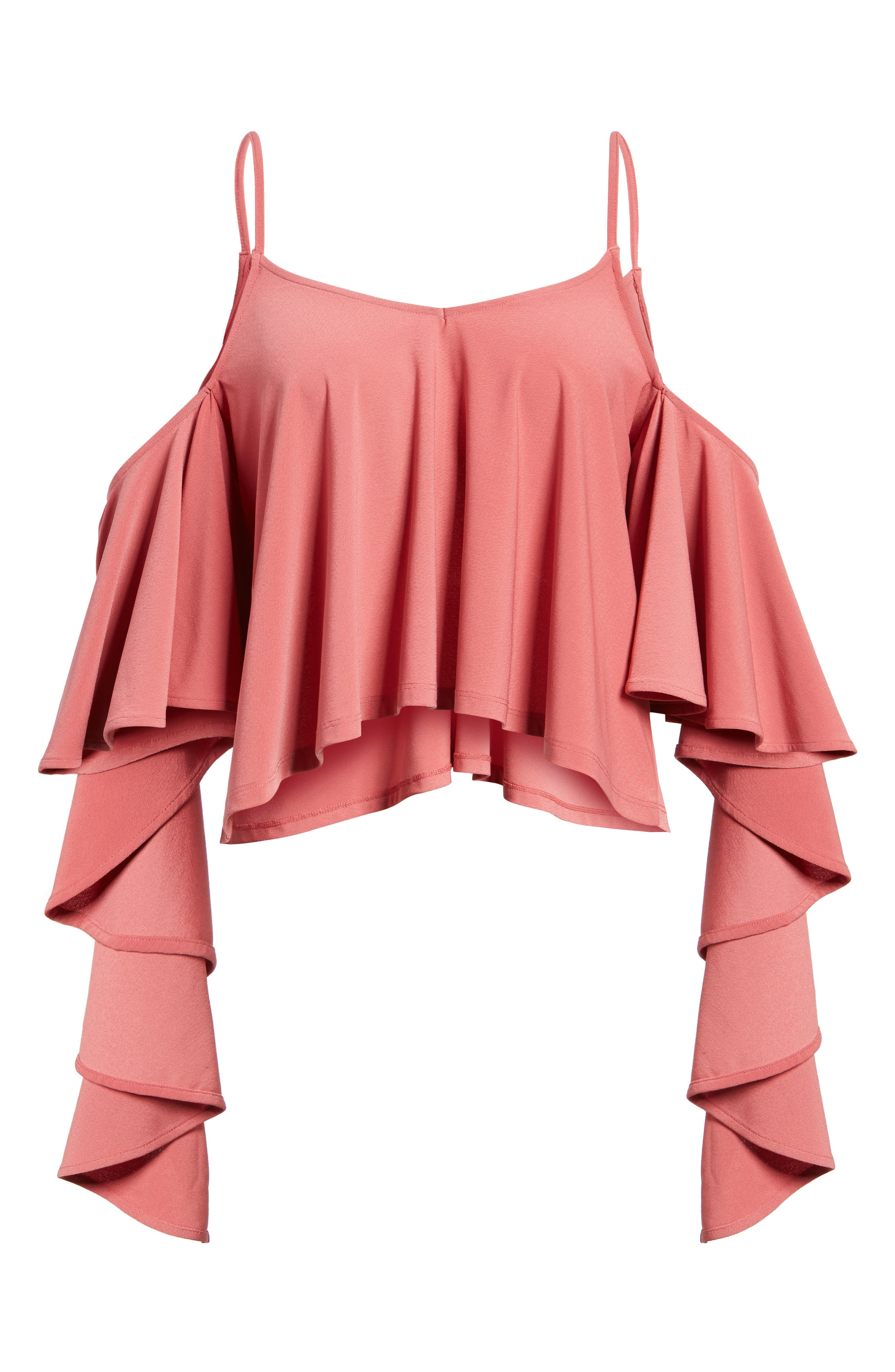 Ruffle Tank,                             Alternate thumbnail 6, color,                             Red Baroque