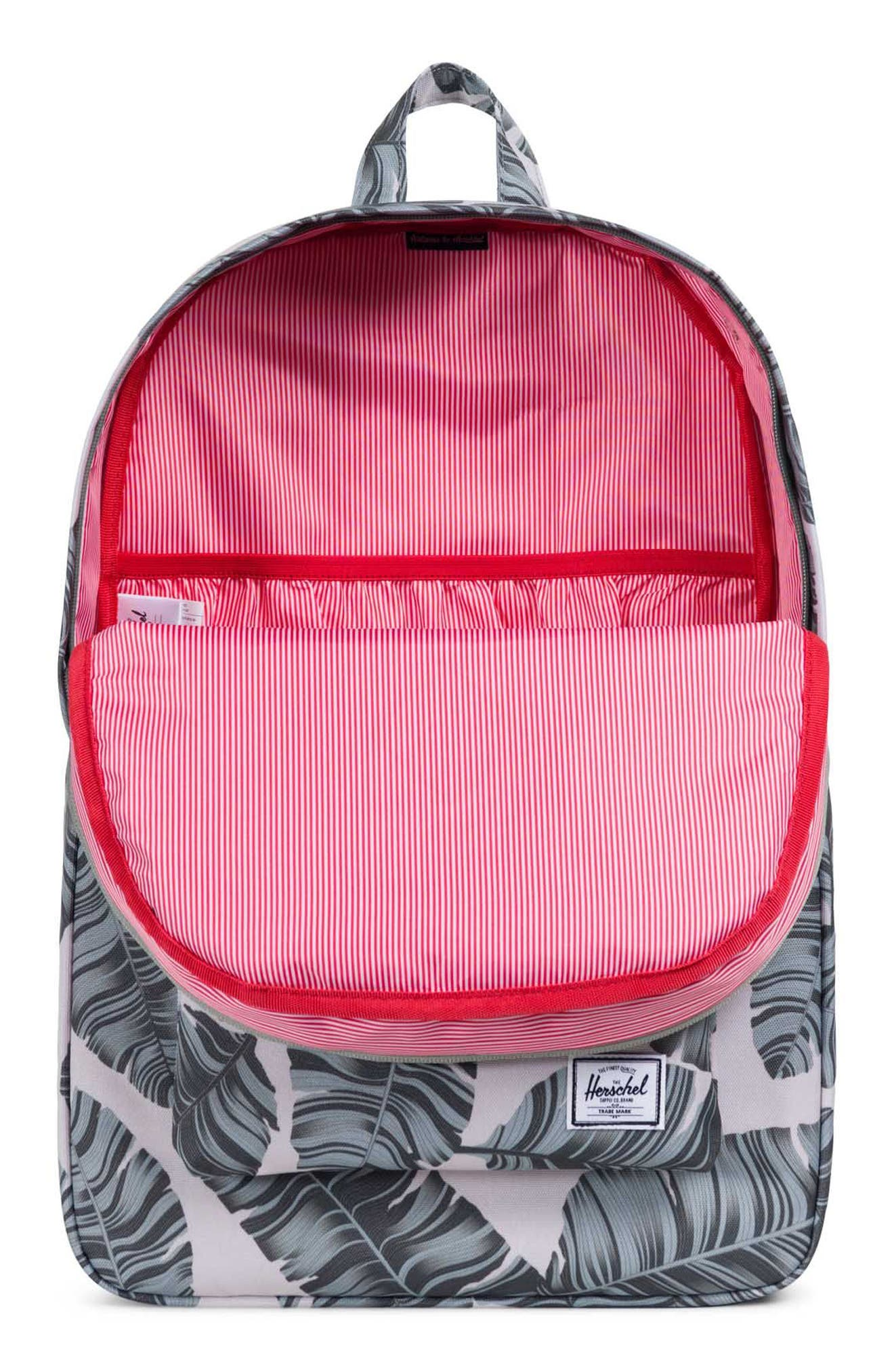 Heritage Backpack,                             Alternate thumbnail 3, color,                             Silver Birch Palm/ Tan