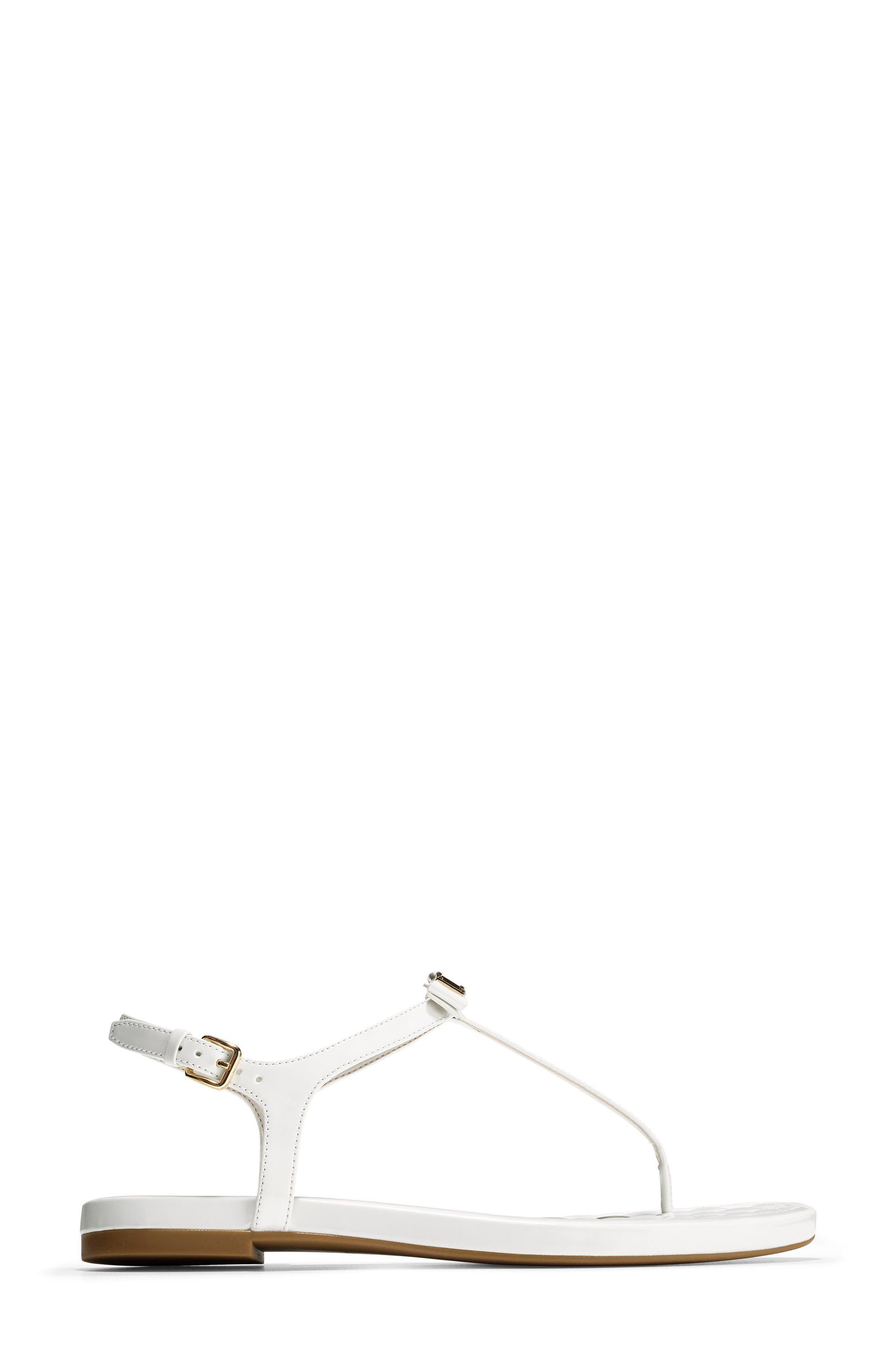 Tali Bow Sandal,                             Alternate thumbnail 3, color,                             Optic White Patent
