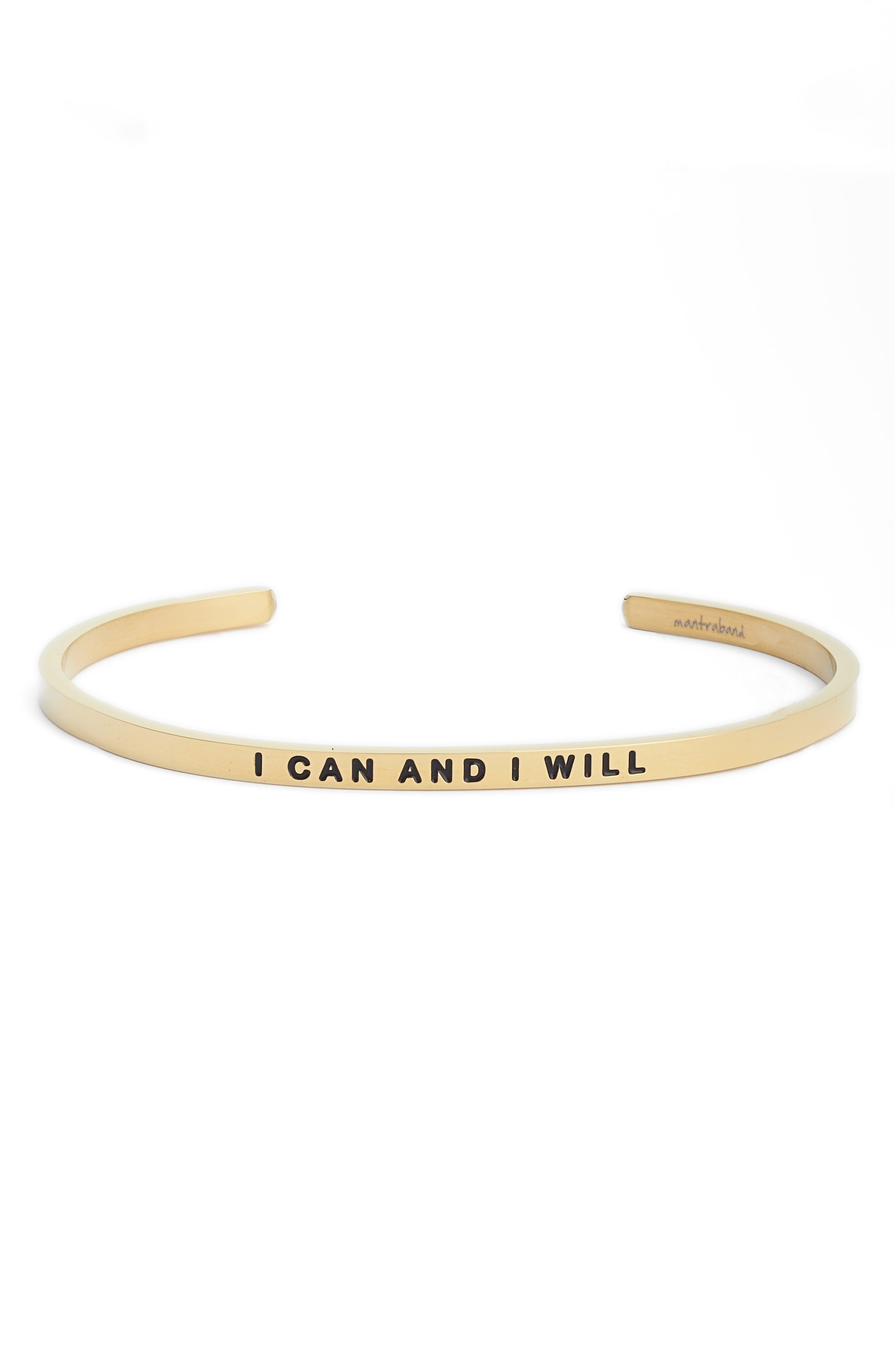MantraBand® I Can and I Will Cuff Bracelet