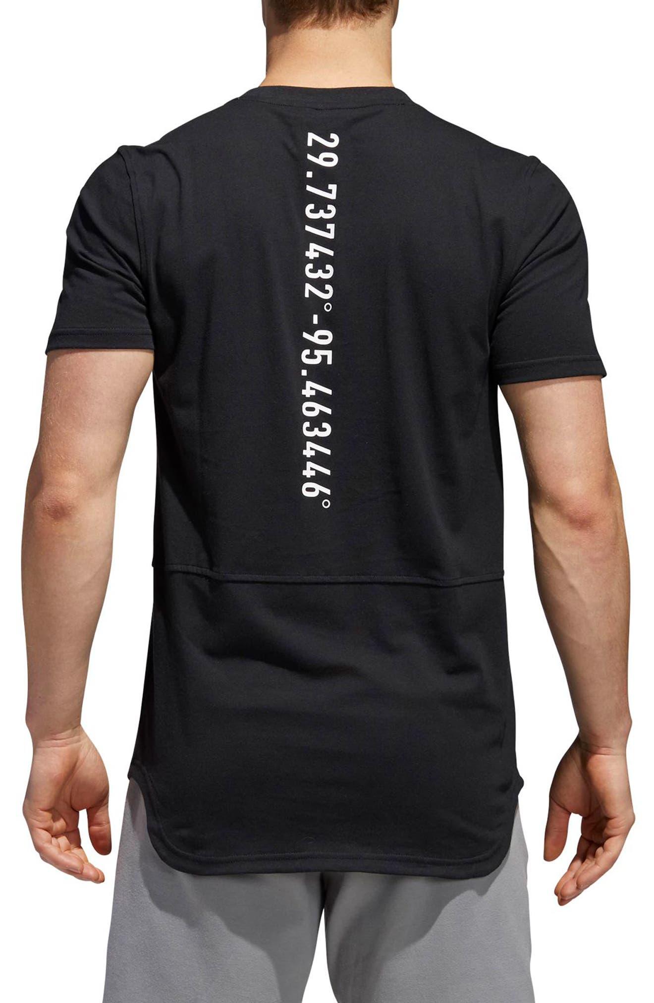 Elevate HOU T-Shirt,                             Alternate thumbnail 2, color,                             Black / White