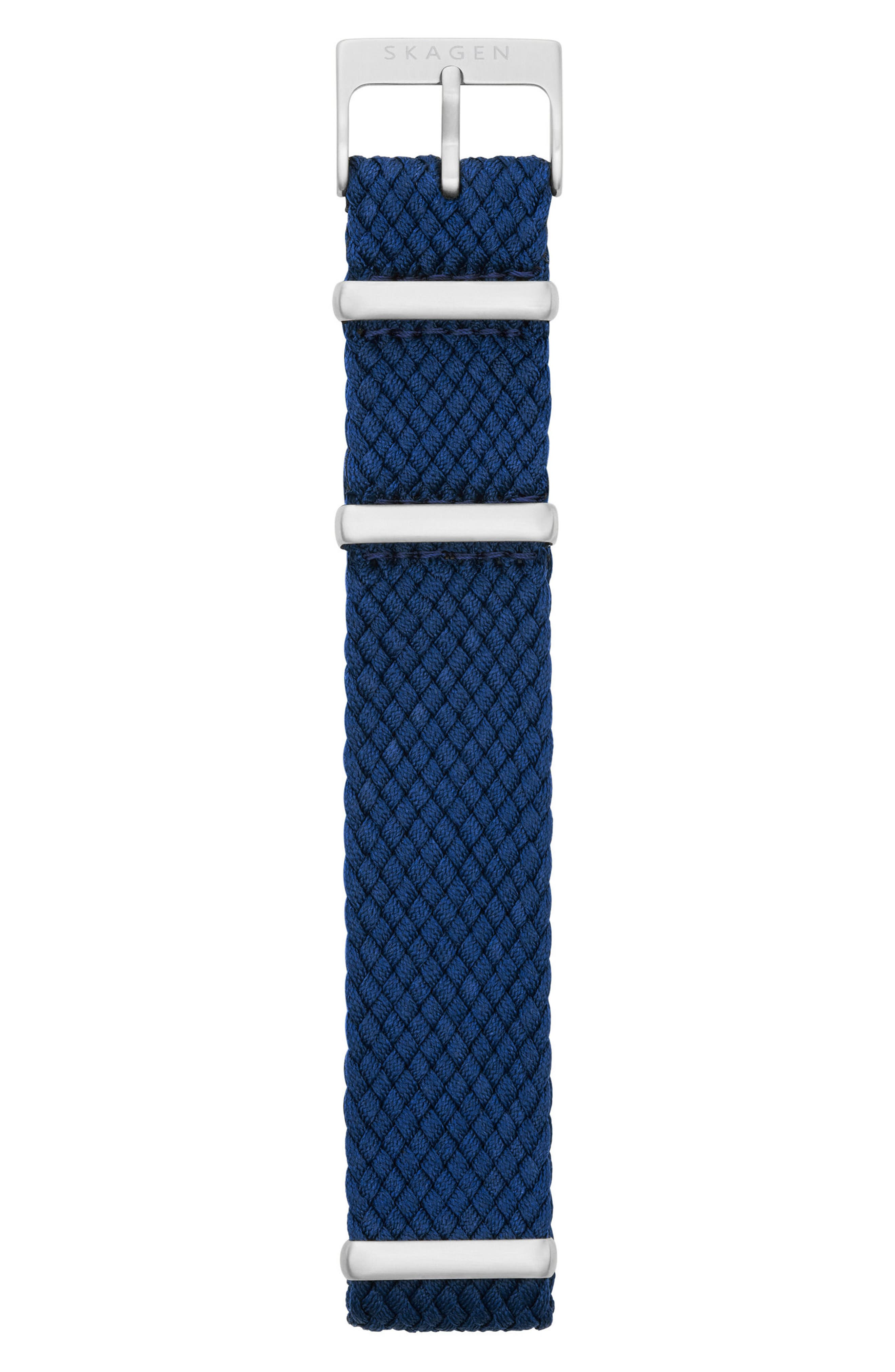 Woven Nylon Watch Strap, 20mm,                             Alternate thumbnail 2, color,                             Navy