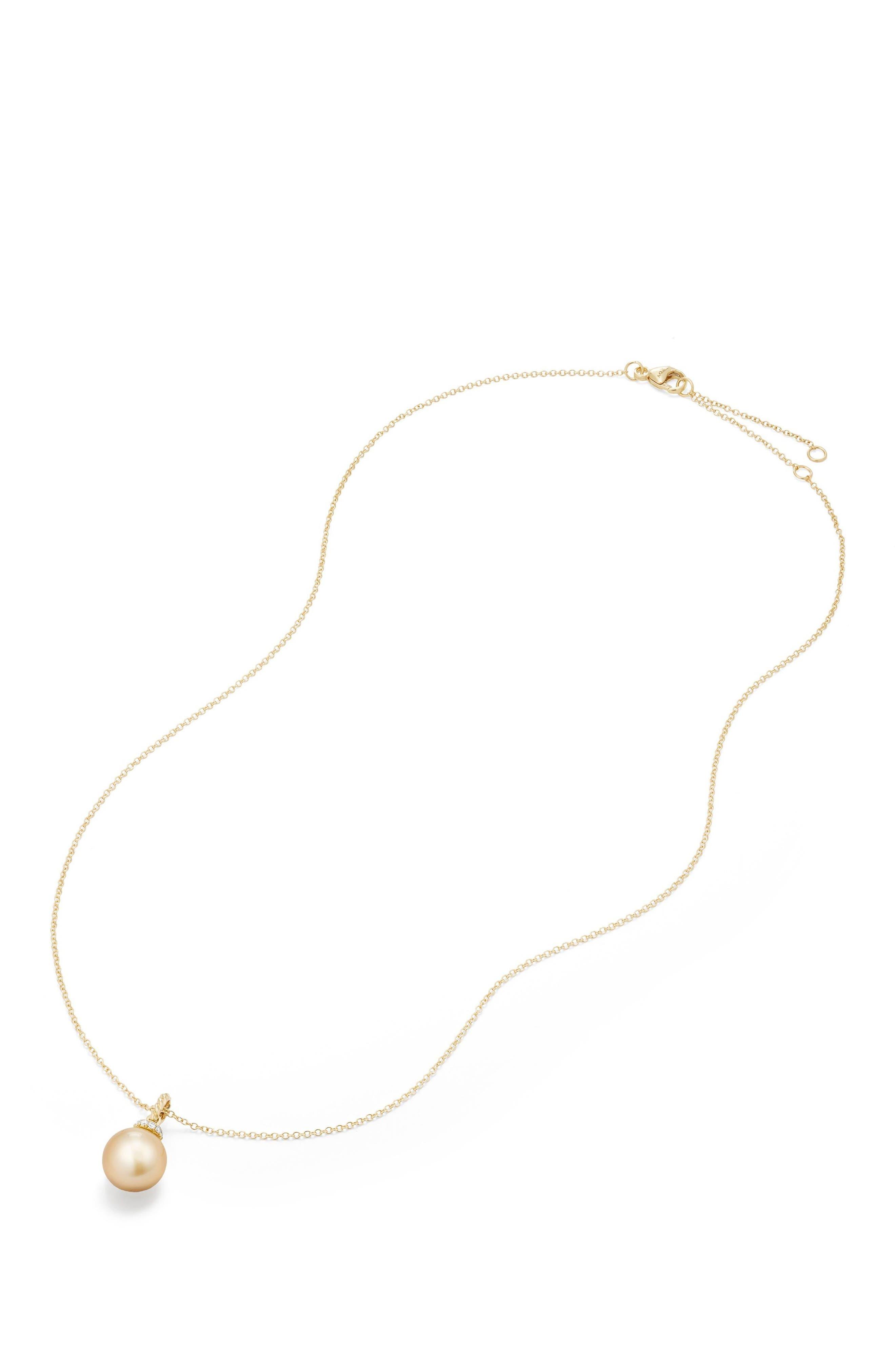 Solari Pendant Necklace with Diamonds,                             Alternate thumbnail 3, color,                             Gold/ Diamond/ Yellow Pearl
