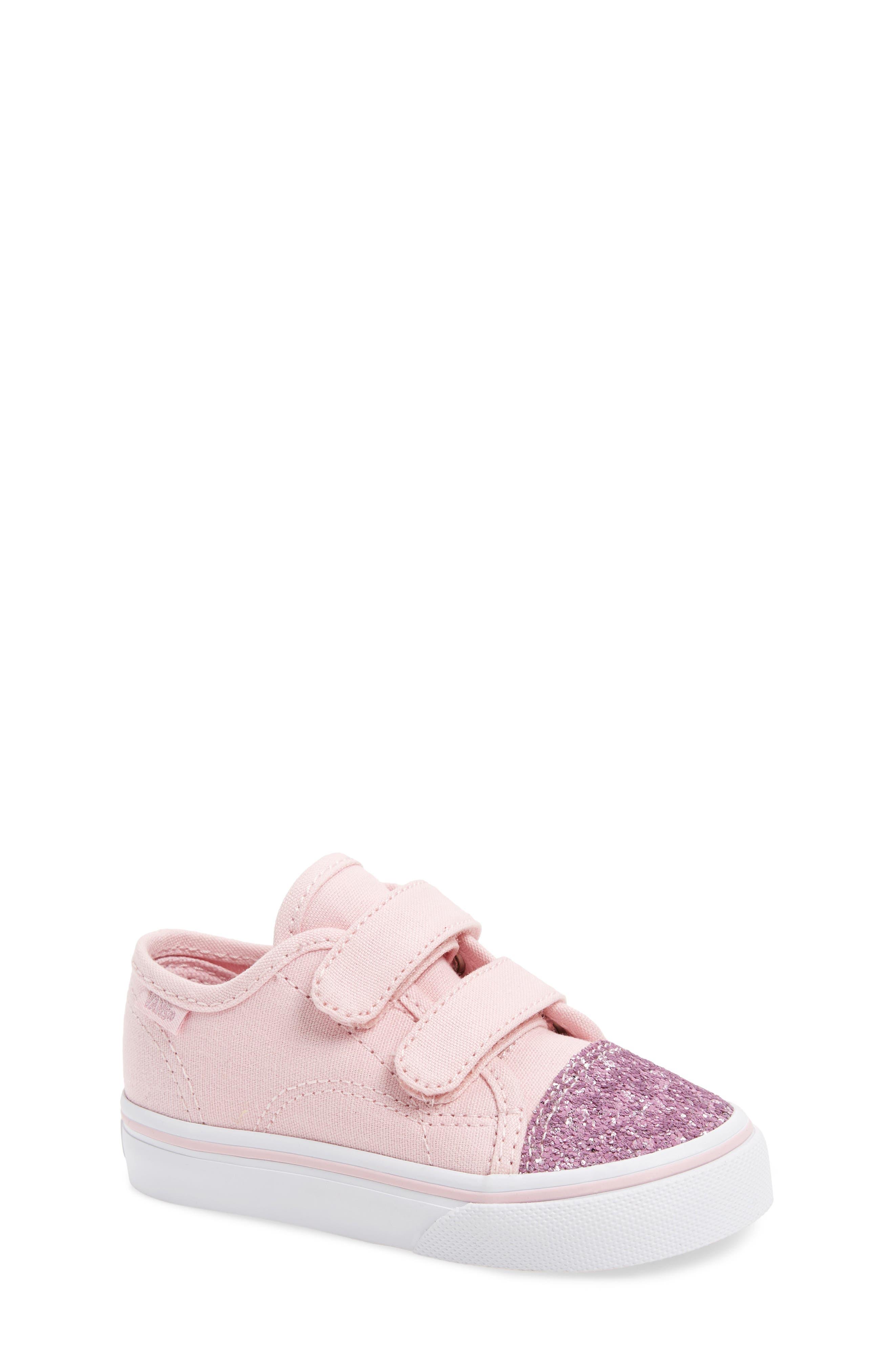 Glitter Toe Style 23 V Sneaker,                             Main thumbnail 1, color,                             Glitter Chalk Pink/ True White