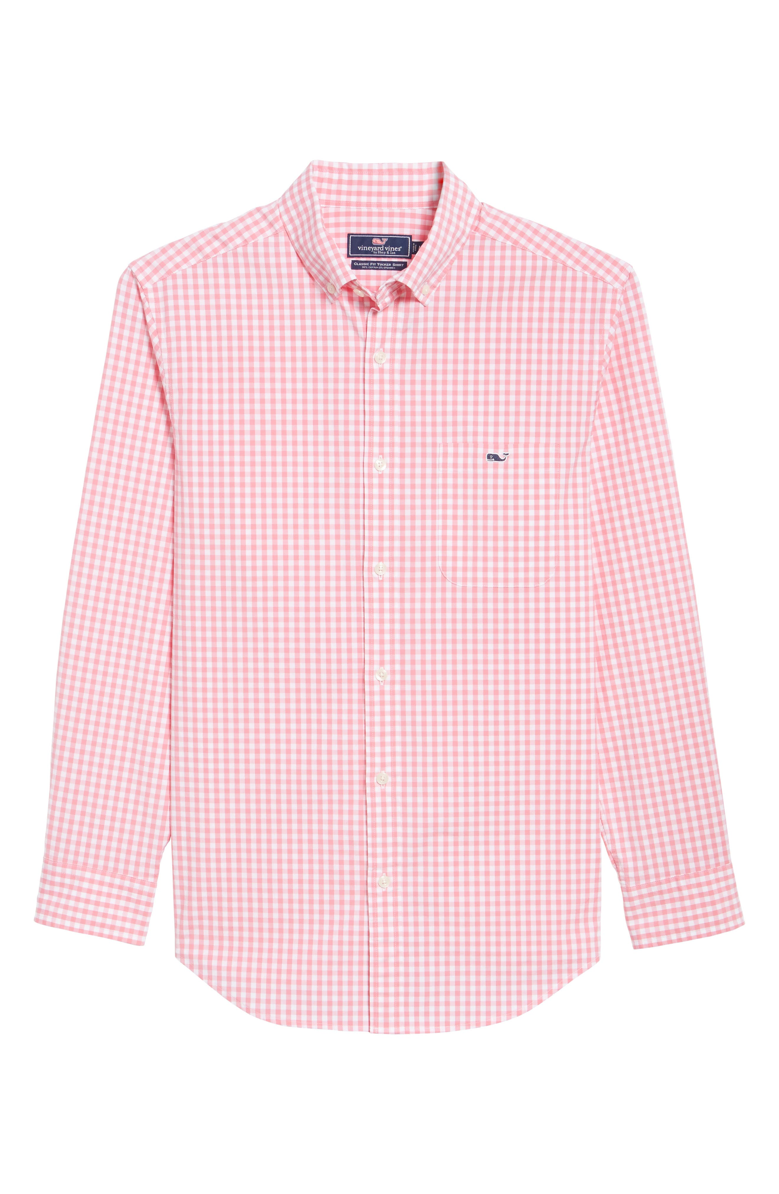 Carleton Classic Fit Gingham Sport Shirt,                             Alternate thumbnail 6, color,                             Bahama Breeze