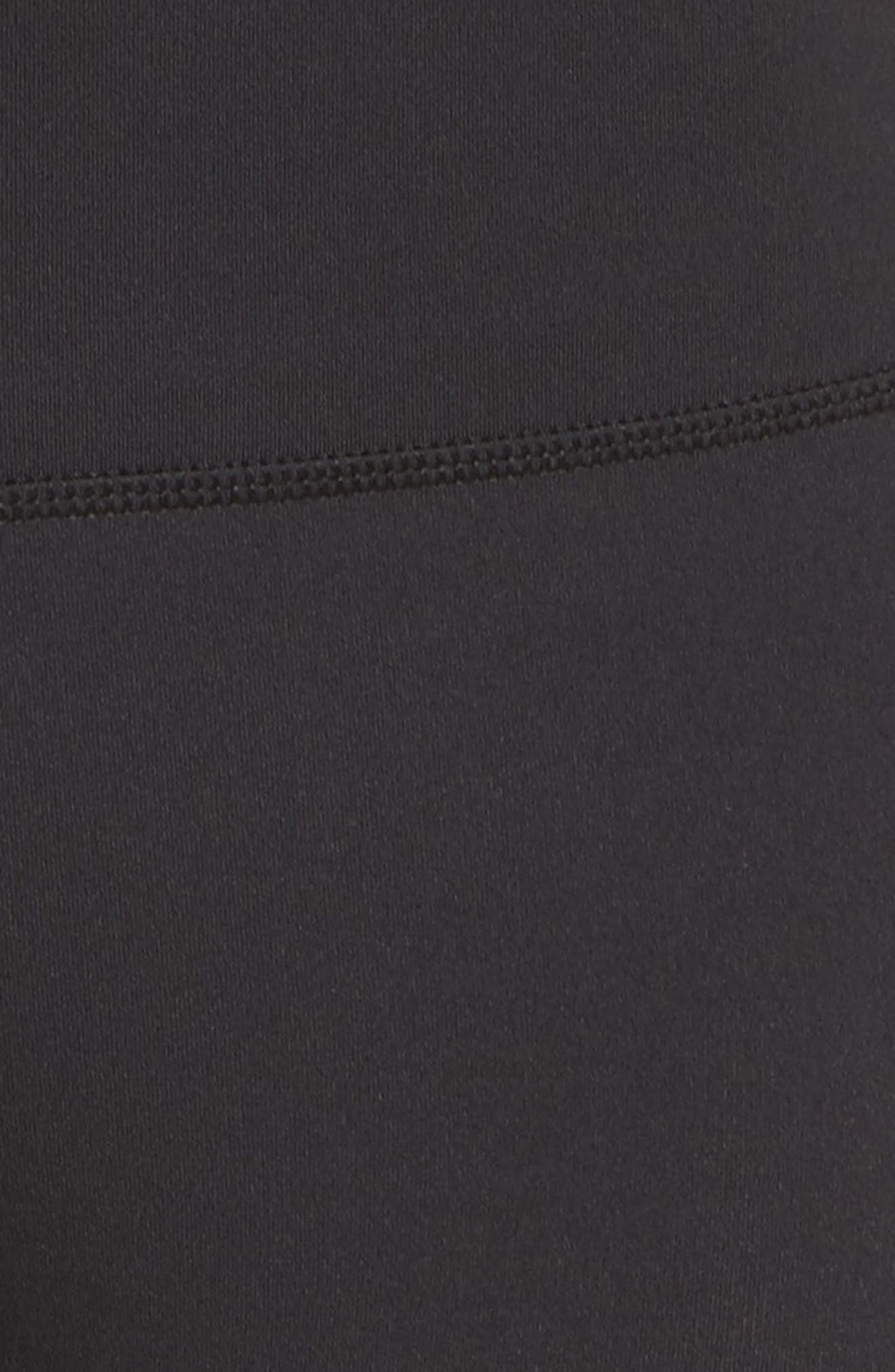 floral laser cut leggings,                             Alternate thumbnail 5, color,                             Black