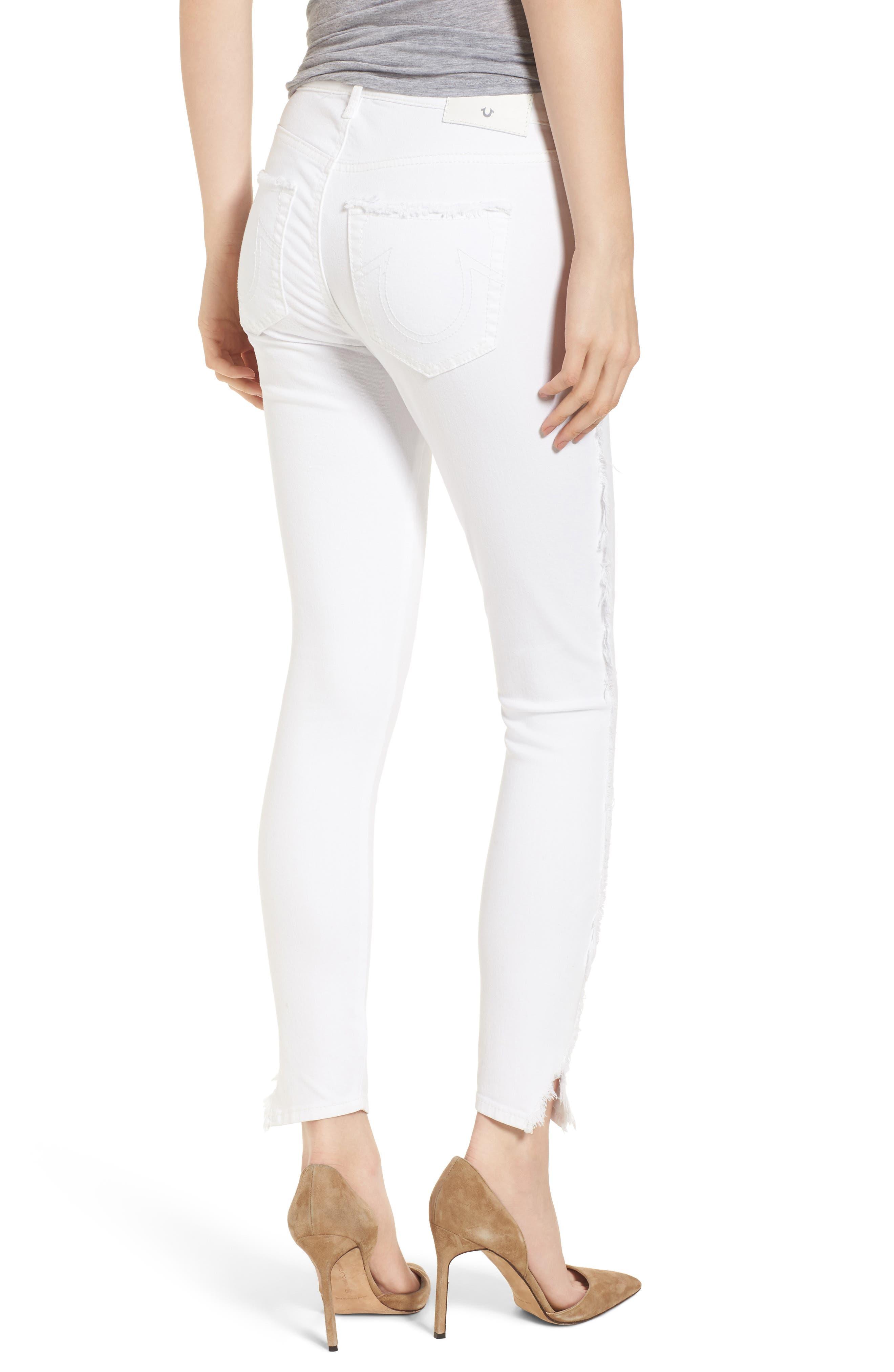 Jennie Curvy Skinny Jeans,                             Alternate thumbnail 2, color,                             Optic White