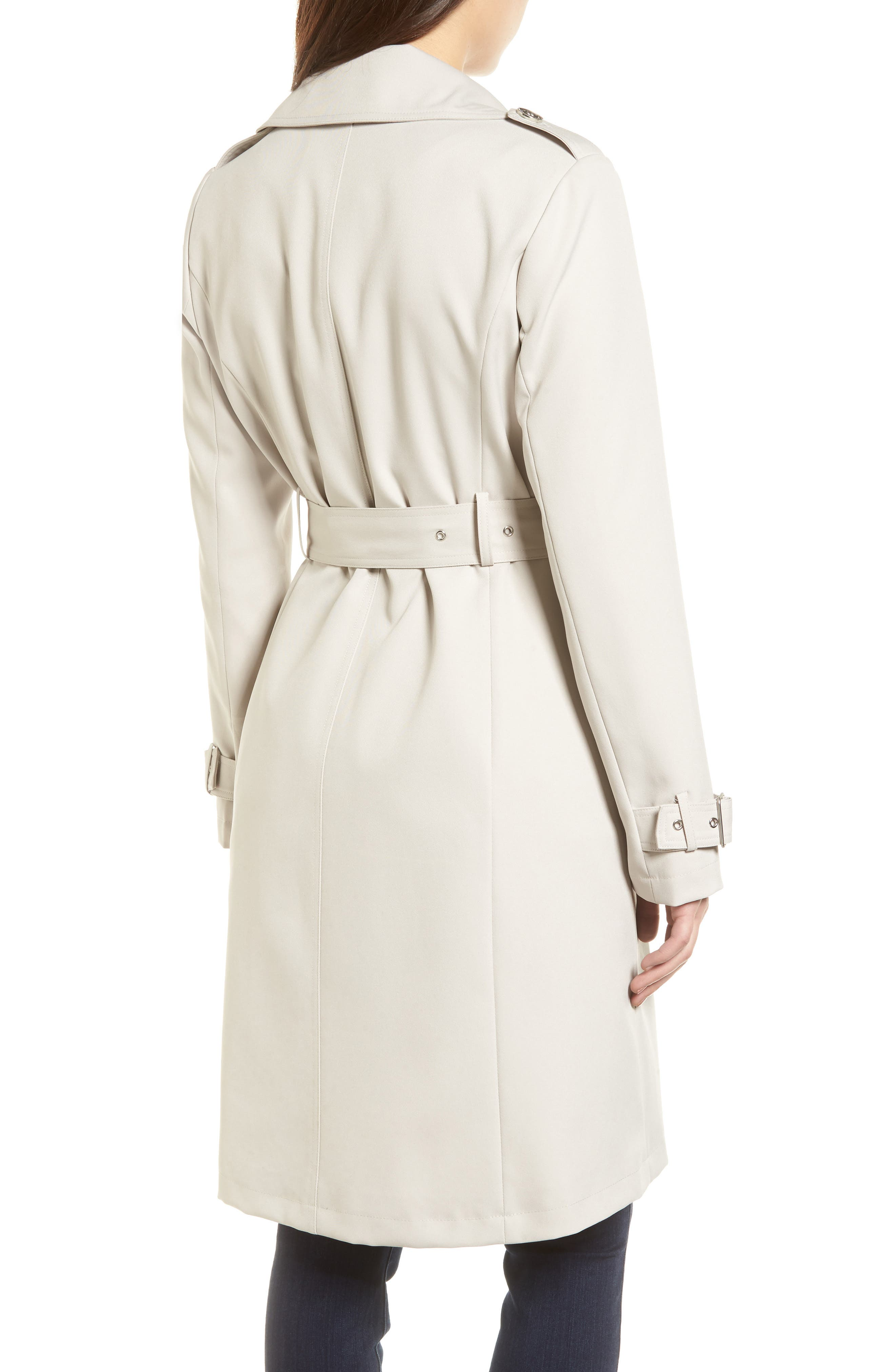 Alternate Image 2  - French Connection Flowy Belted Trench Coat