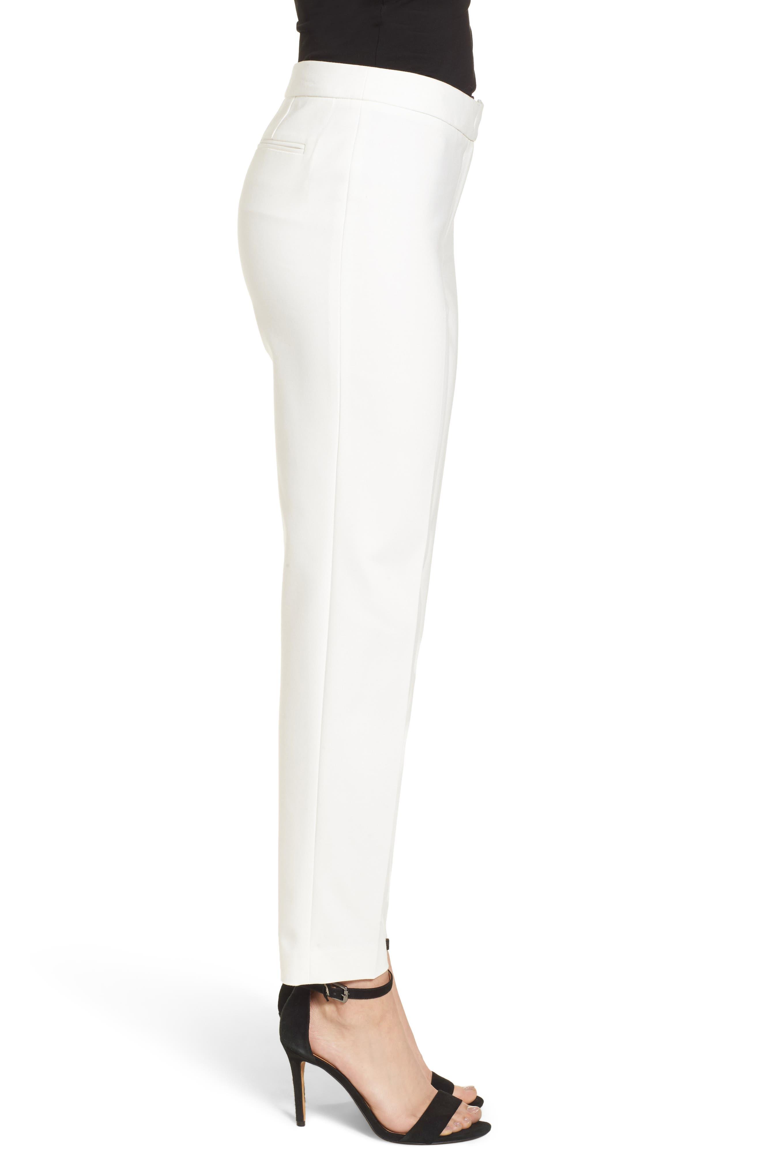 Bowie Cotton Blend Suit Pants,                             Alternate thumbnail 3, color,                             White