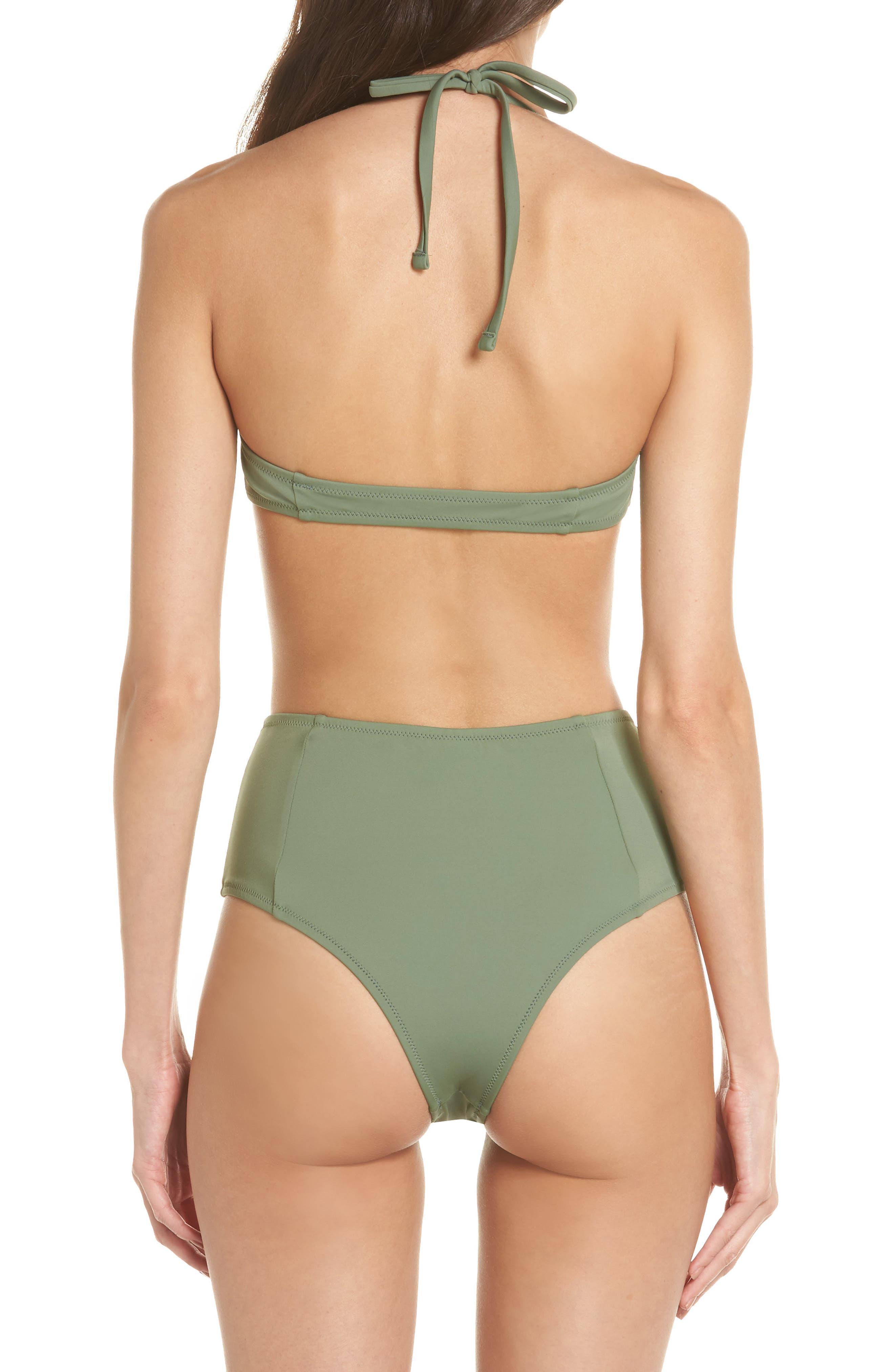 The Jessica High Waist Bikini Bottoms,                             Alternate thumbnail 6, color,                             Green