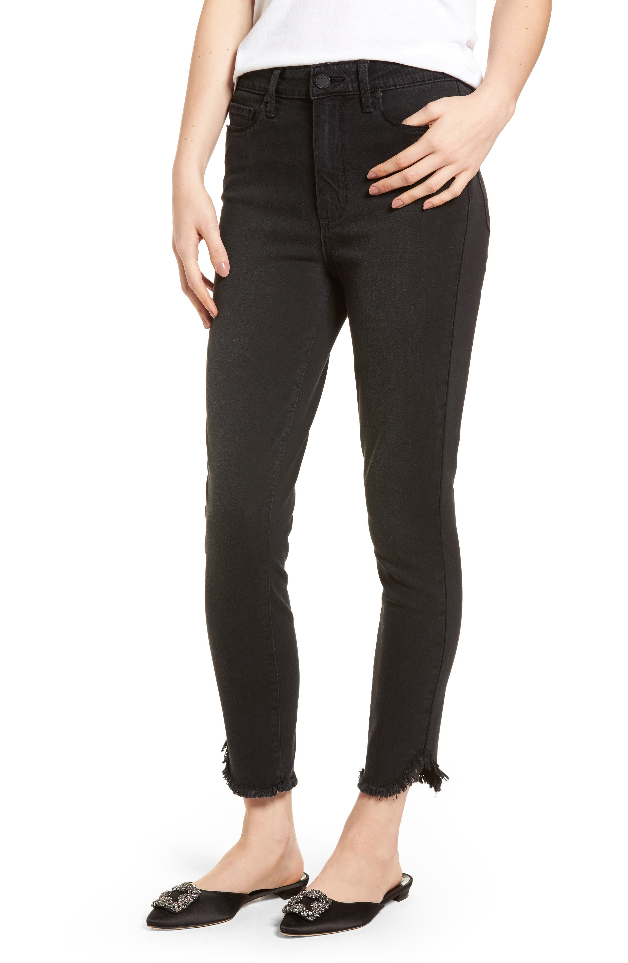 Transcend - Margot High Waist Crop Ultra Skinny Jeans,                             Main thumbnail 1, color,                             Draco