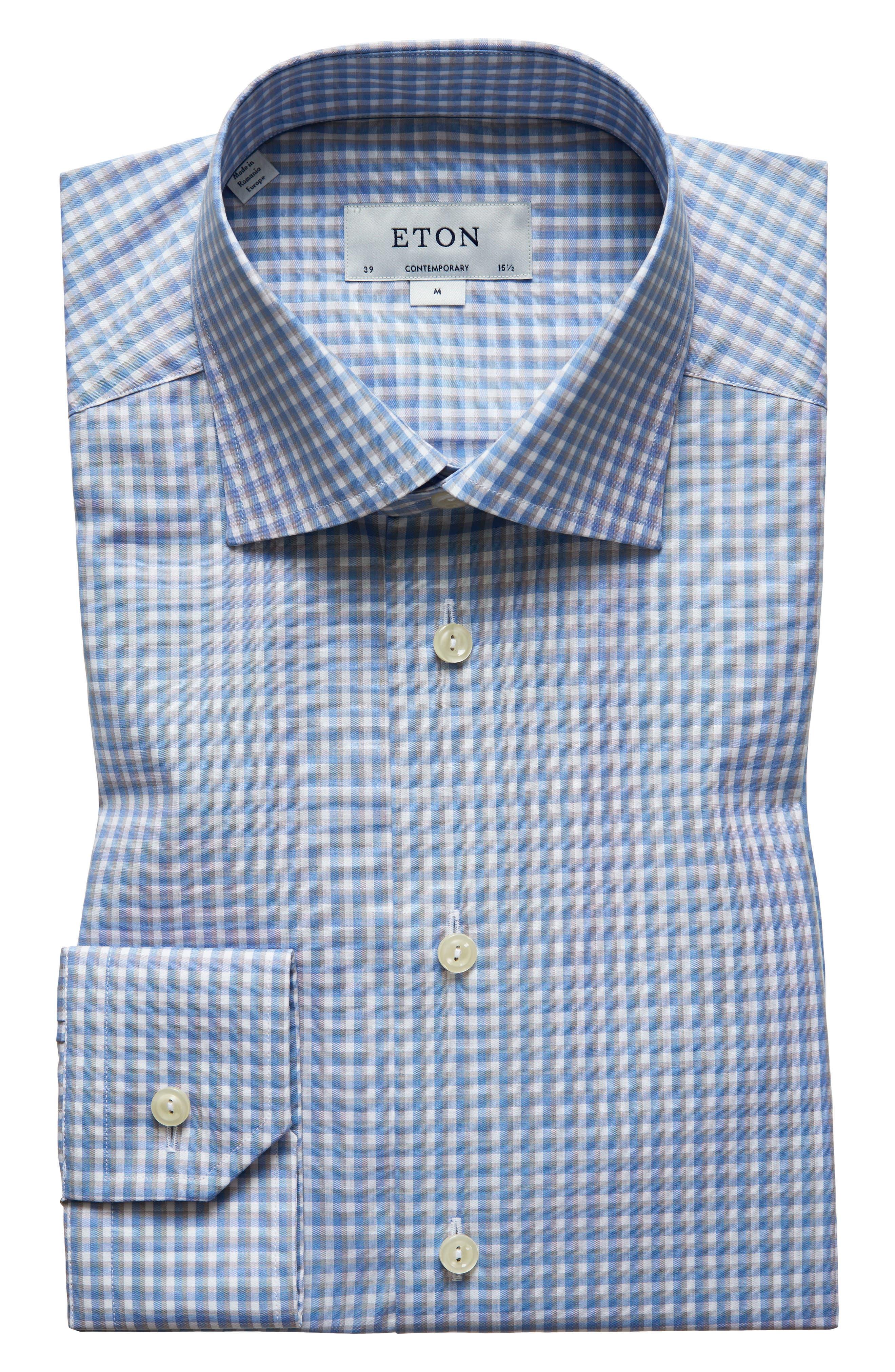 Eton Check Dress Shirt