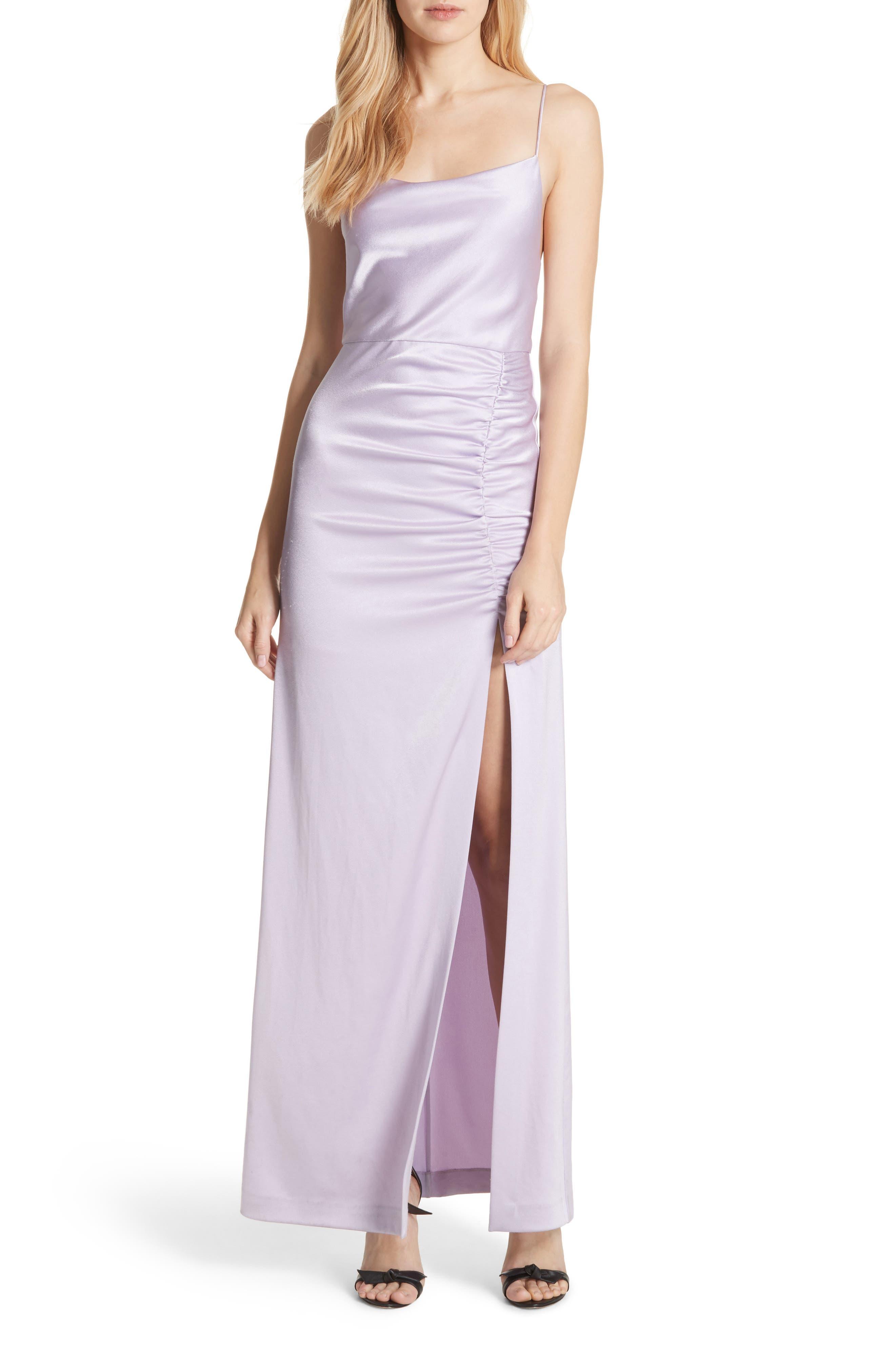 Alice + Olivia Diana Slit Front Maxi Dress