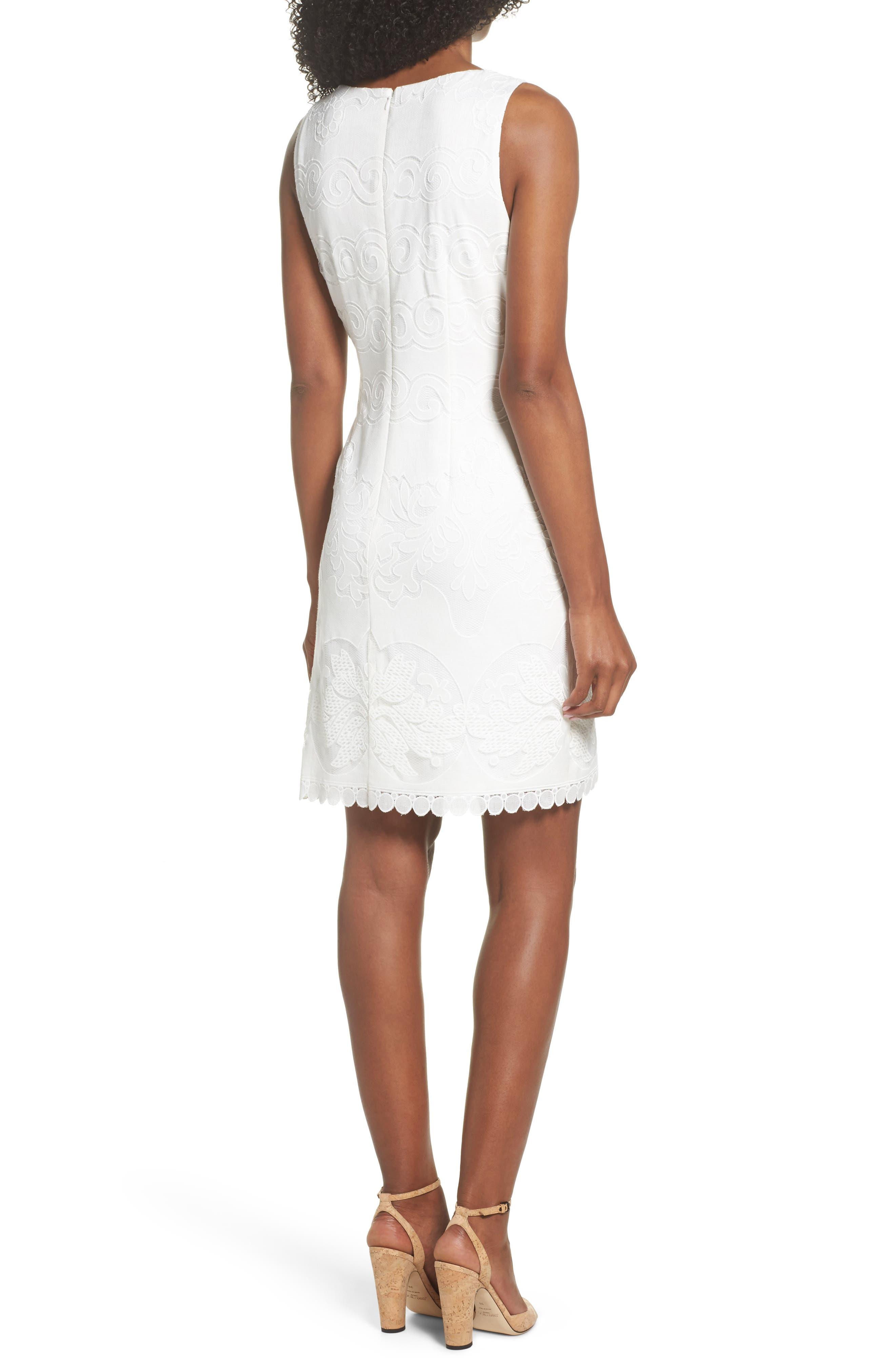 A-Line Dress,                             Alternate thumbnail 2, color,                             White