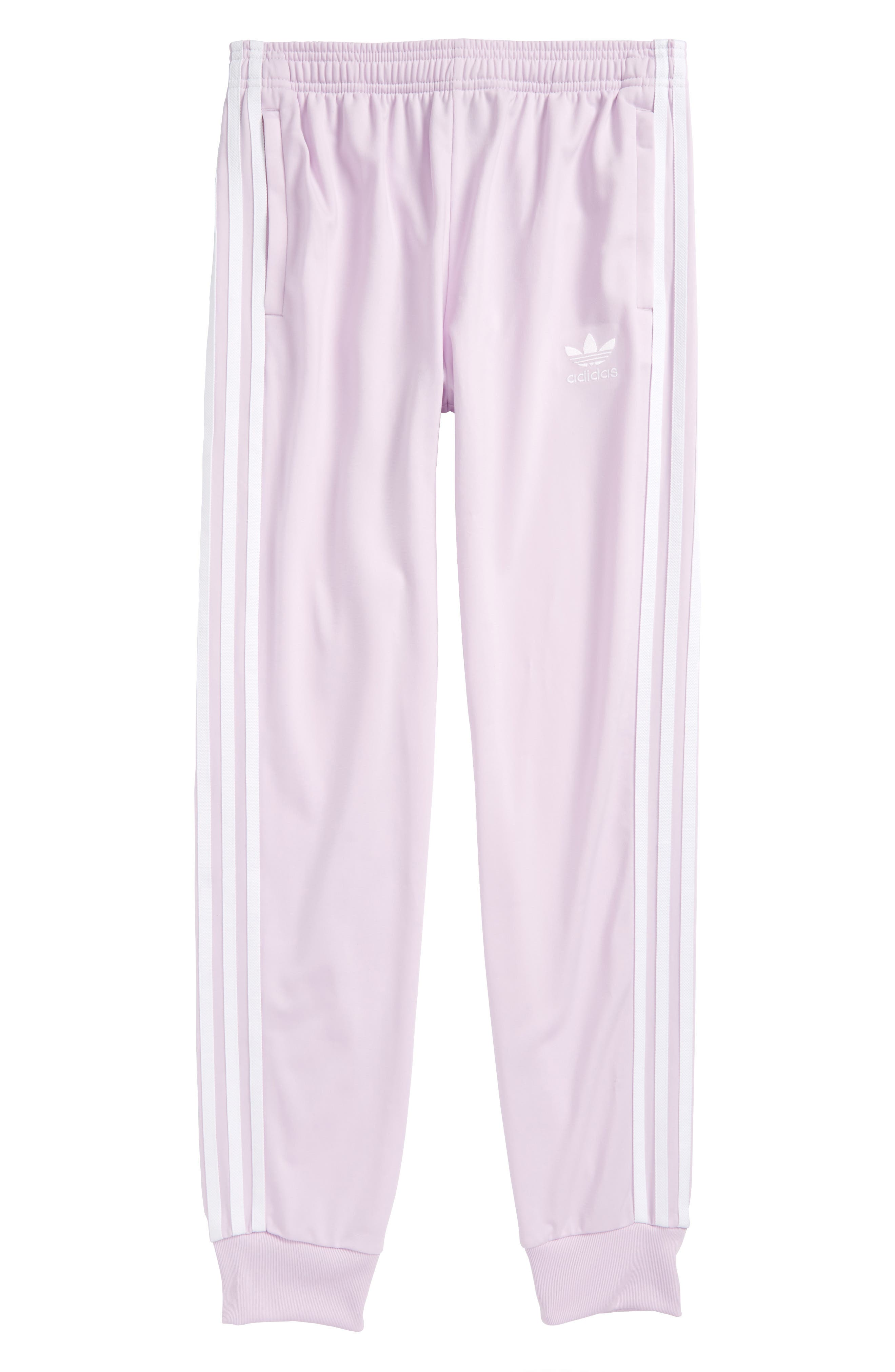 adidas SST Track Pants,                             Main thumbnail 1, color,                             Pink