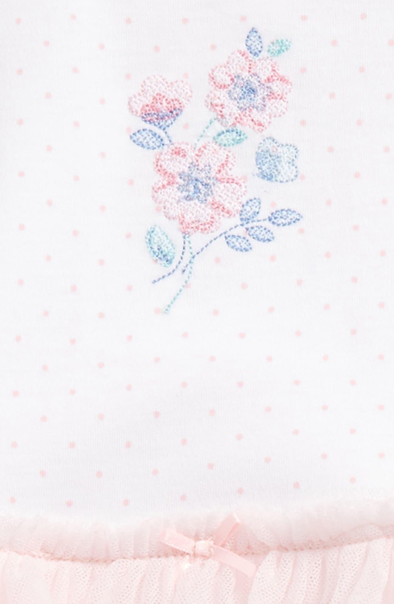 Alternate Image 2  - Little Me Garden Dress, Leggings & Headband Set (Baby Girls)