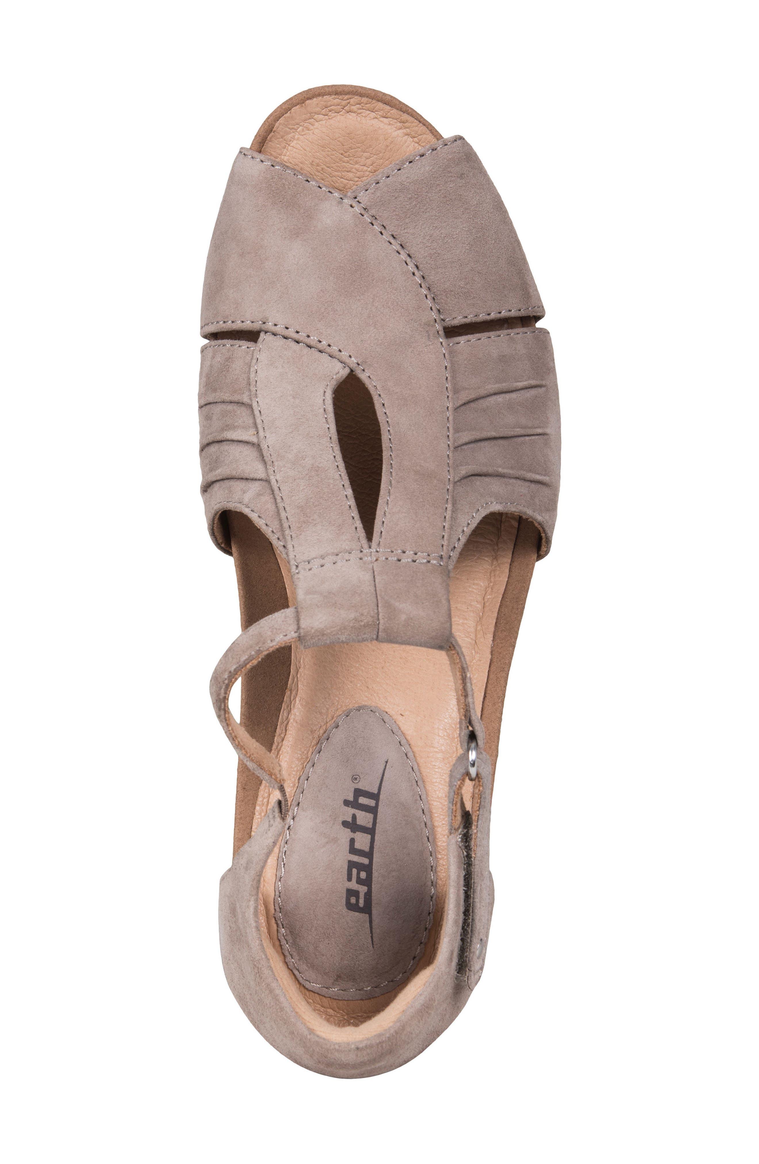 Primrose Wedge Sandal,                             Alternate thumbnail 5, color,                             Ginger Suede