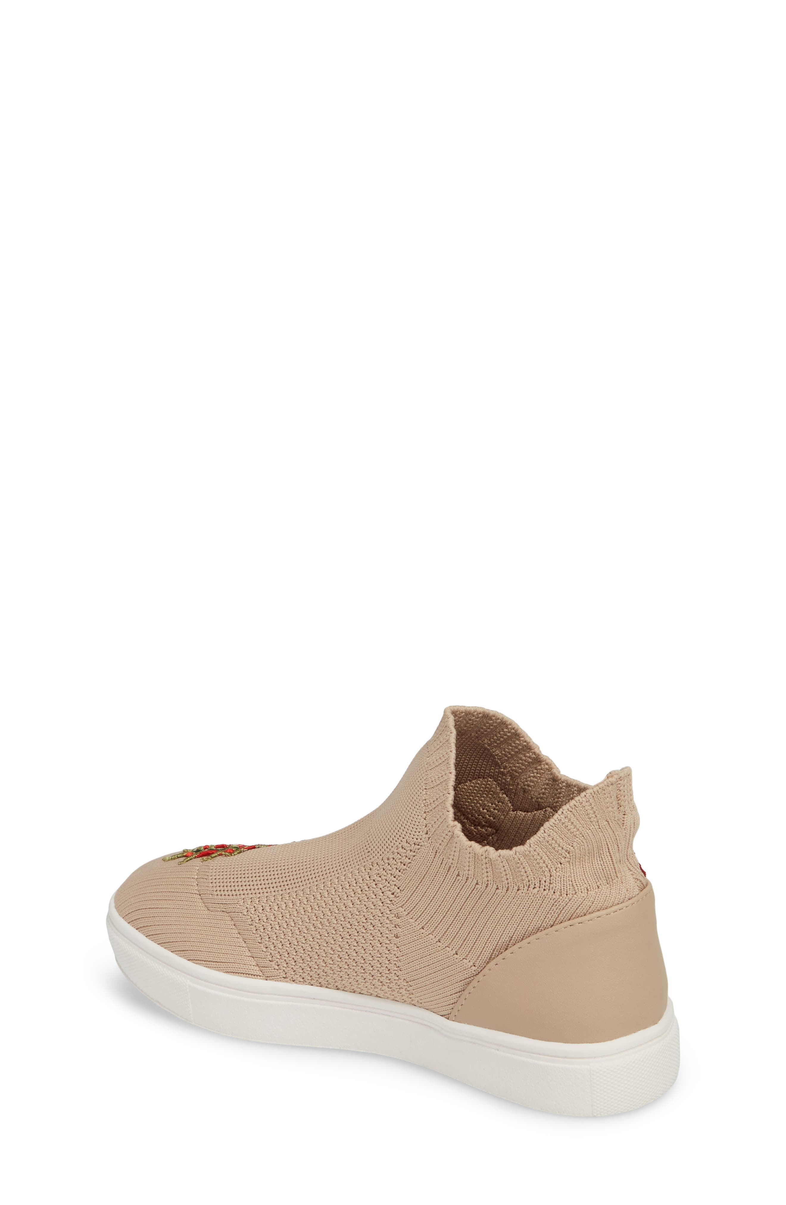 July Embroidered Knit Bootie,                             Alternate thumbnail 2, color,                             Blush