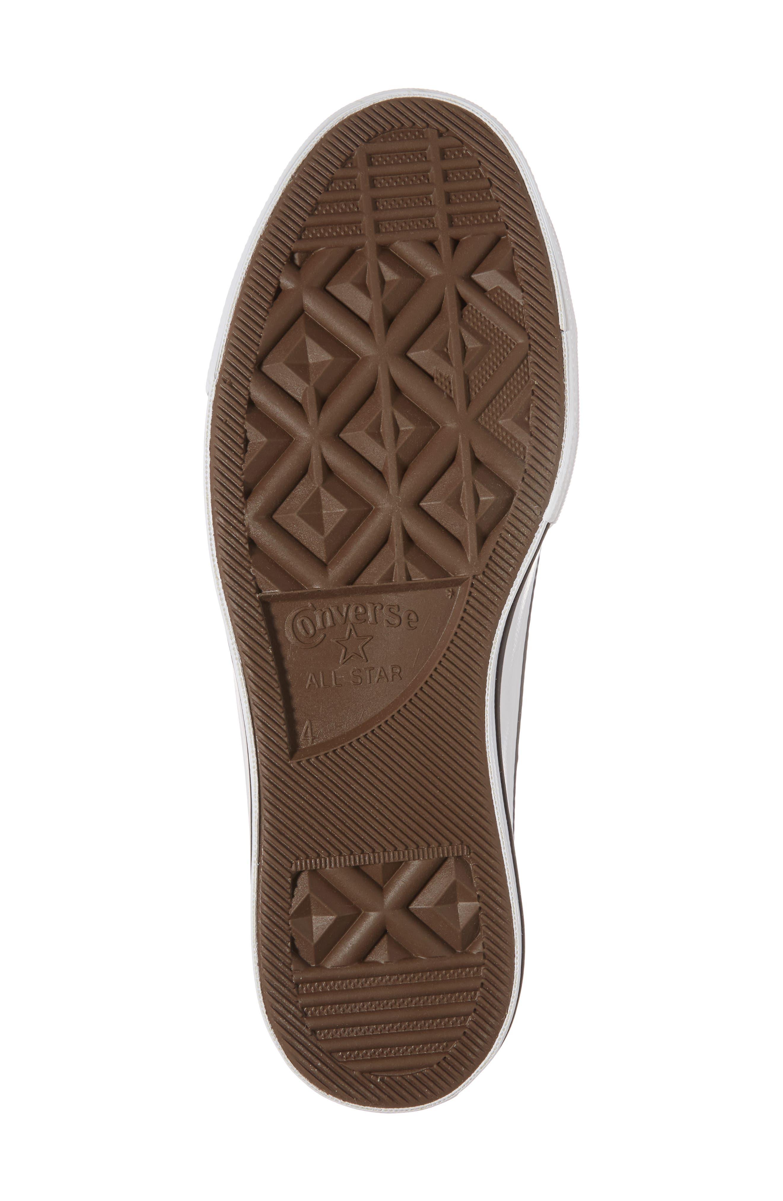 Chuck Taylor<sup>®</sup> All Star Platform Sneaker,                             Alternate thumbnail 6, color,                             Silver/ Black