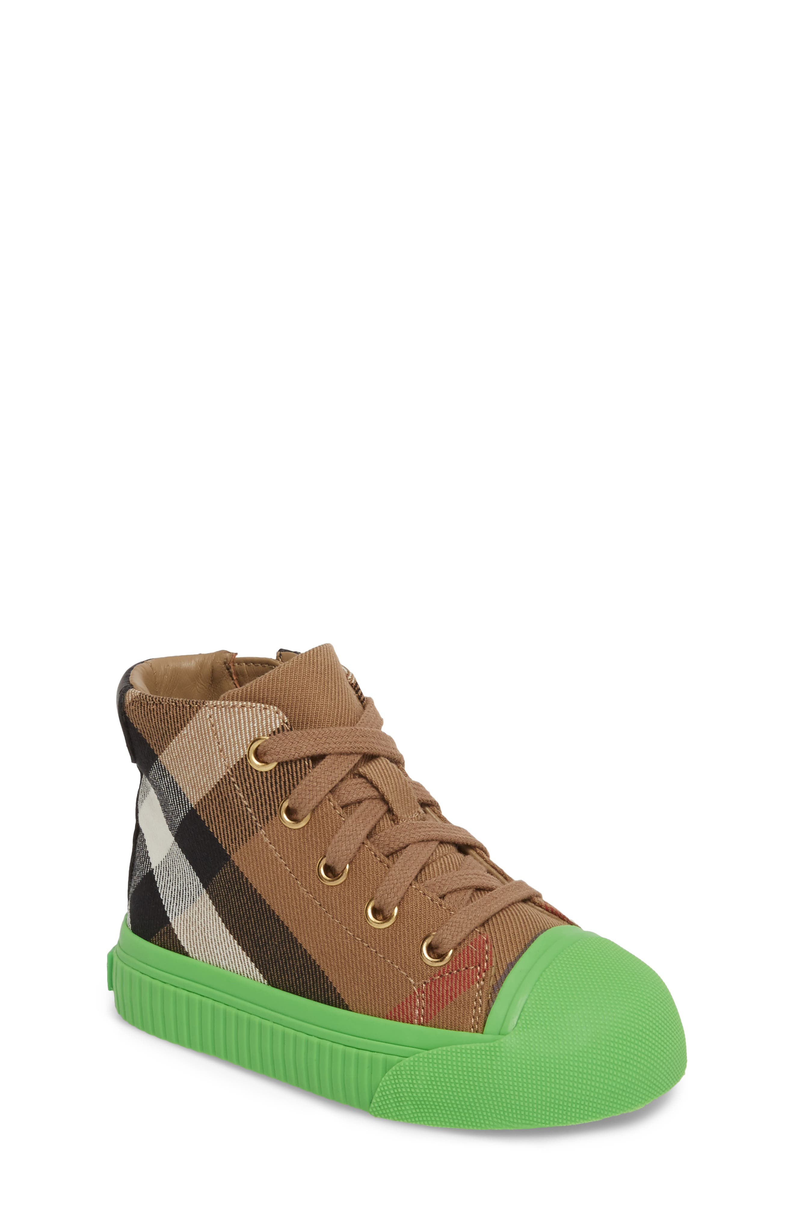 Burberry Belford High Top Sneaker (Walker, Toddler & Little Kid)