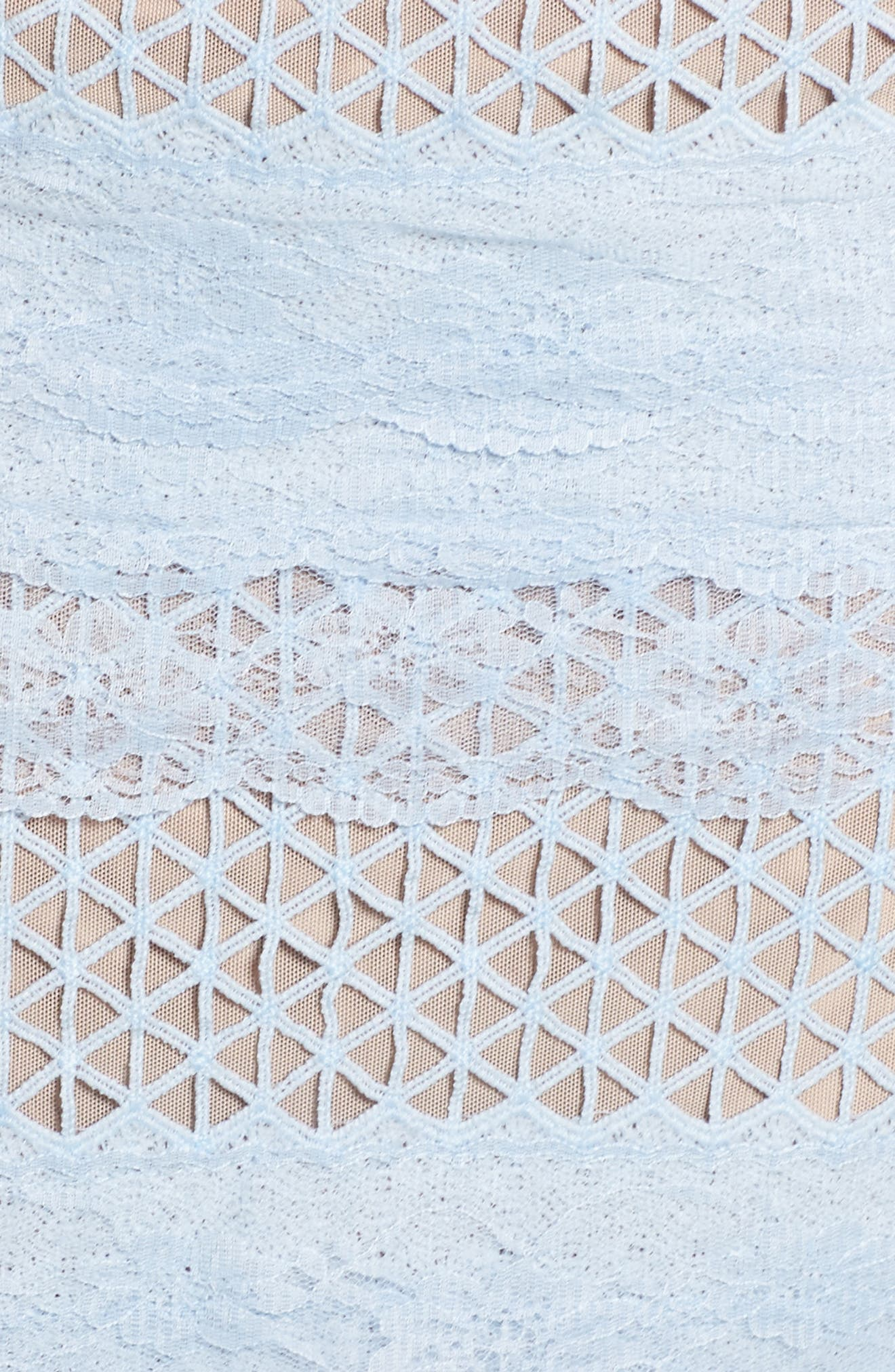 Sienna Lace Panel Sheath Dress,                             Alternate thumbnail 9, color,                             Sky