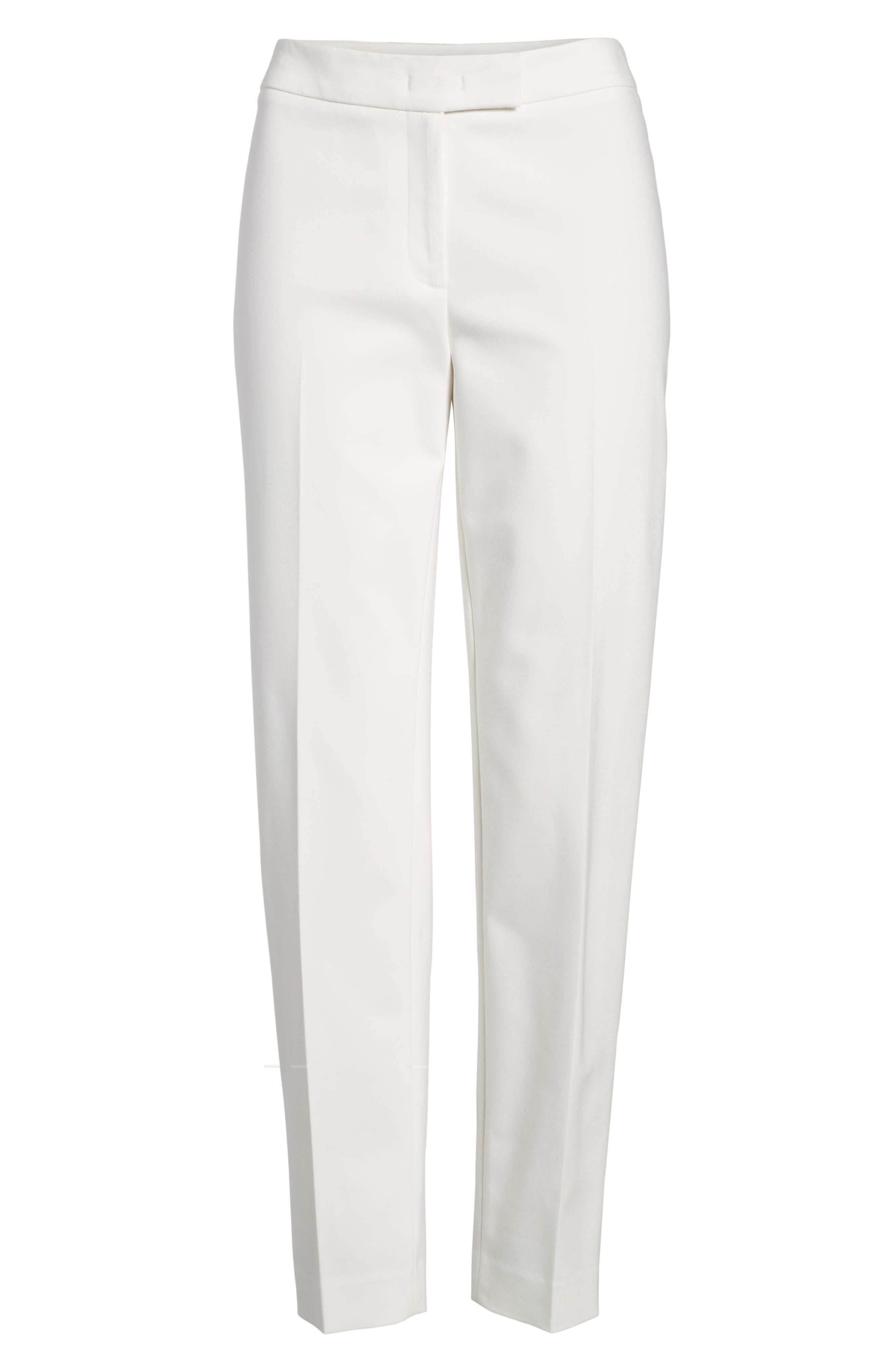 Bowie Cotton Blend Suit Pants,                             Alternate thumbnail 6, color,                             White