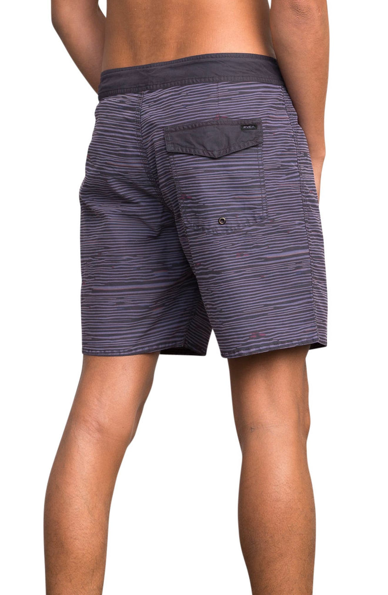 Flinch Board Shorts,                             Alternate thumbnail 3, color,                             Dark Purple