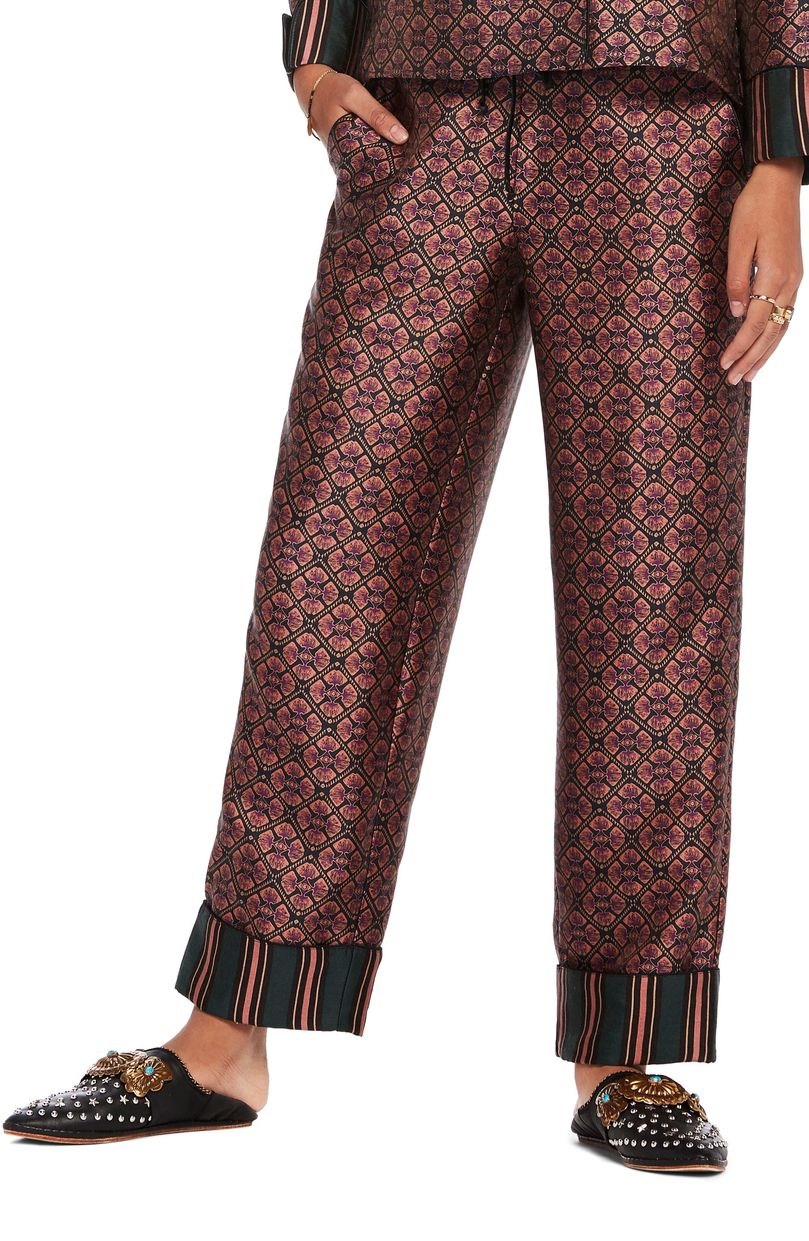 Print Pajama Pants,                         Main,                         color, Combo B