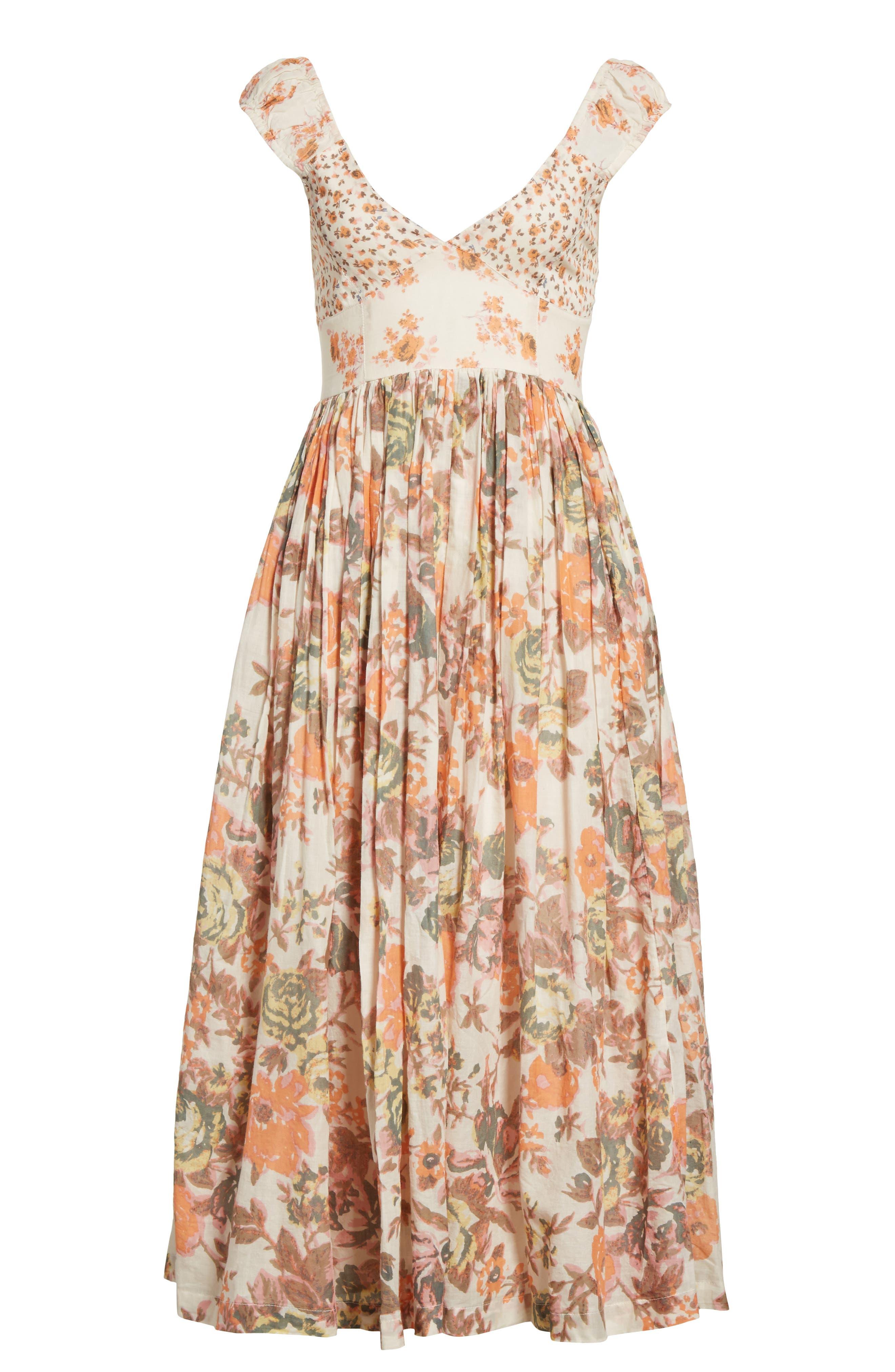 Love You Midi Dress,                             Alternate thumbnail 7, color,                             Ivory
