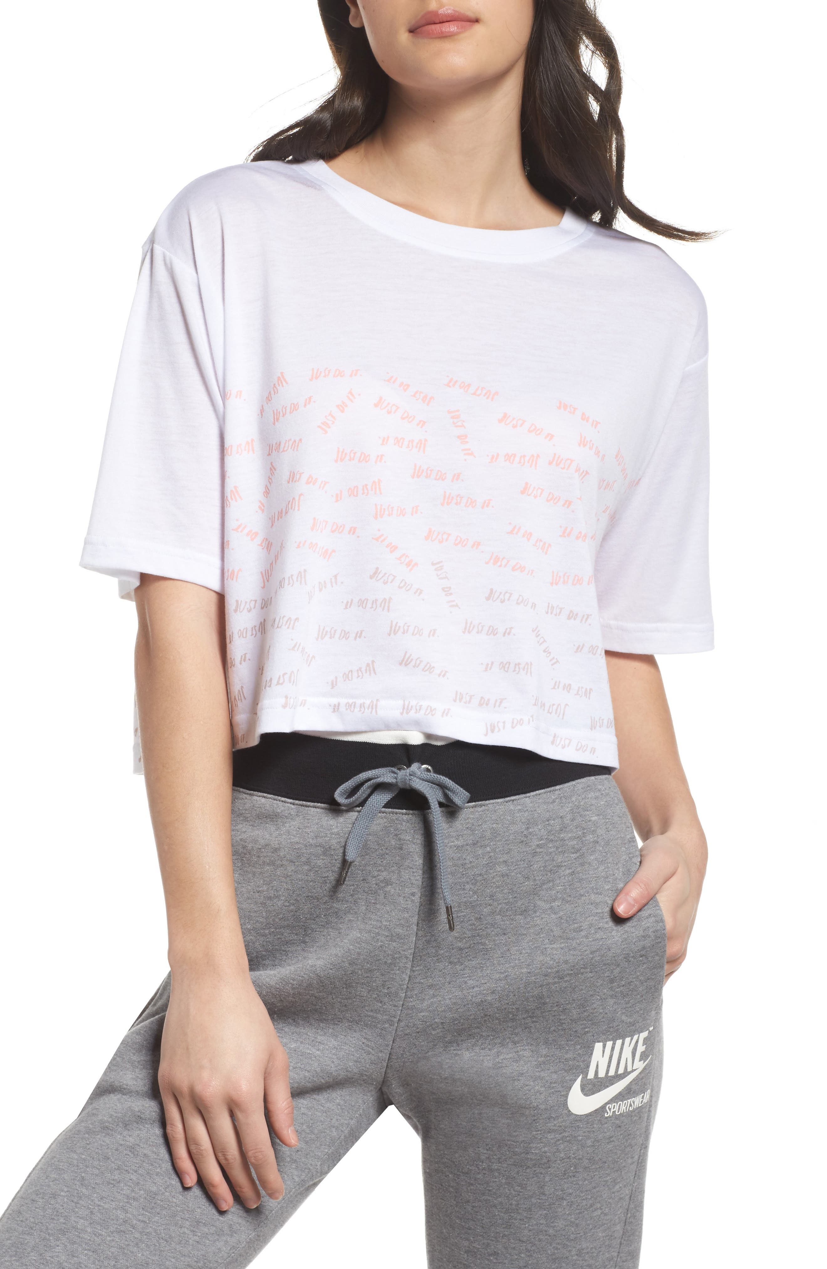 Sportswear Just Do It Tee,                             Main thumbnail 1, color,                             White