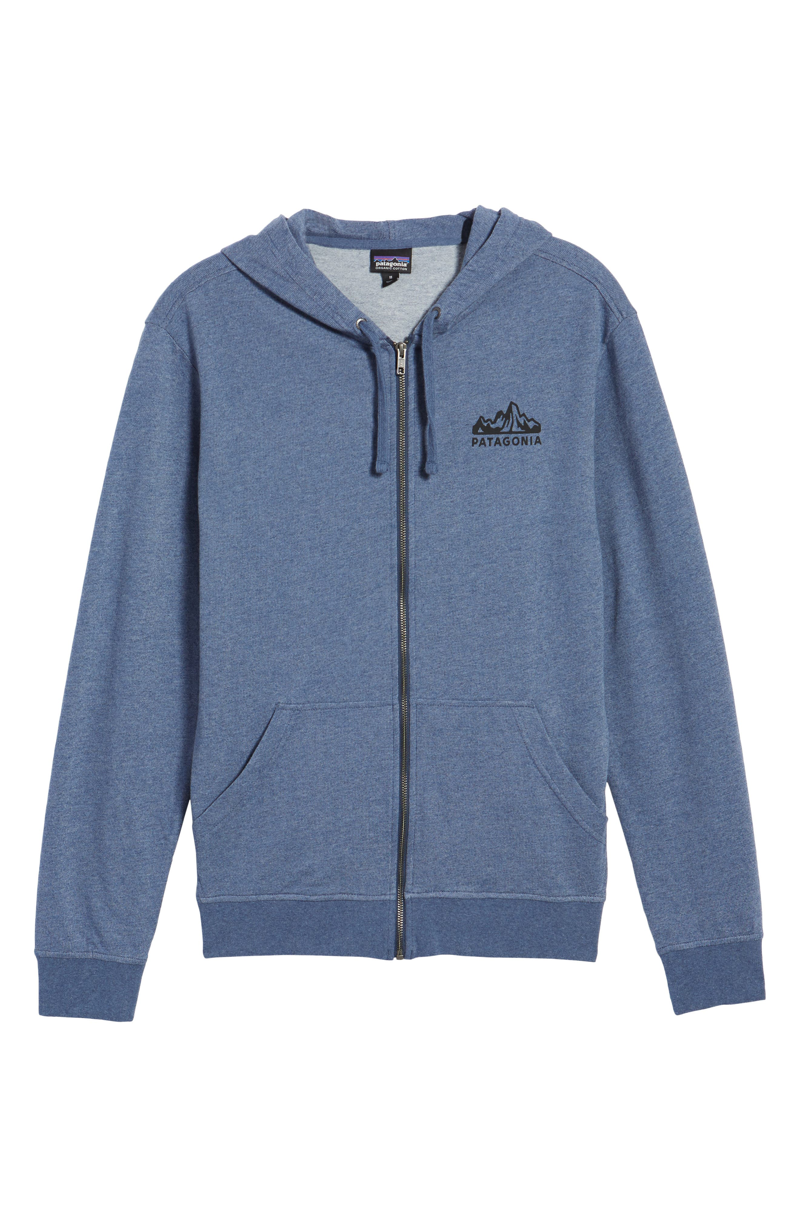 Fitz Roy Frostbite PolyCycle<sup>®</sup> Full Zip Hoodie,                             Alternate thumbnail 6, color,                             Dolomite Blue