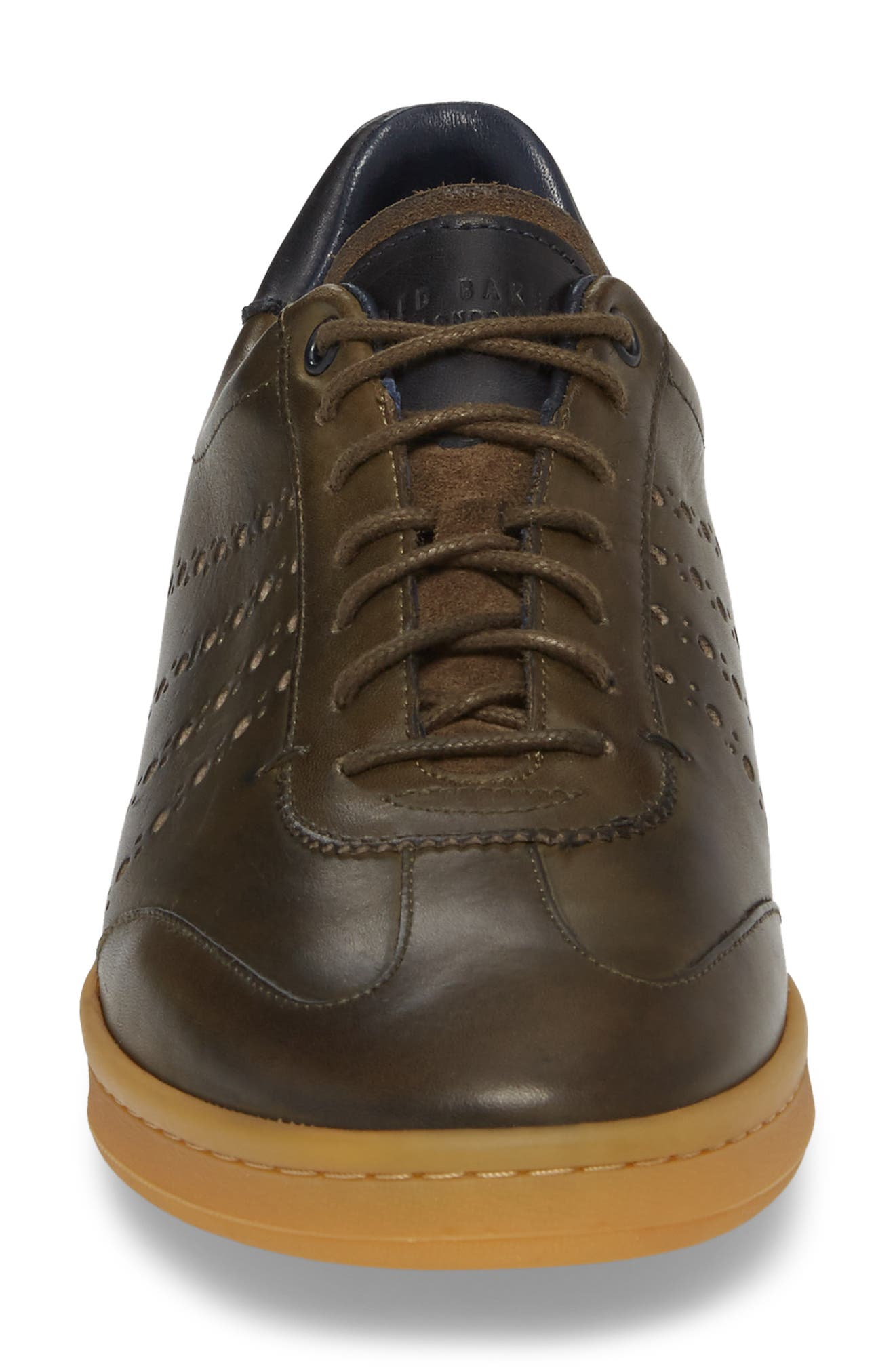 Orlee Sneaker,                             Alternate thumbnail 5, color,                             Dark Green Leather