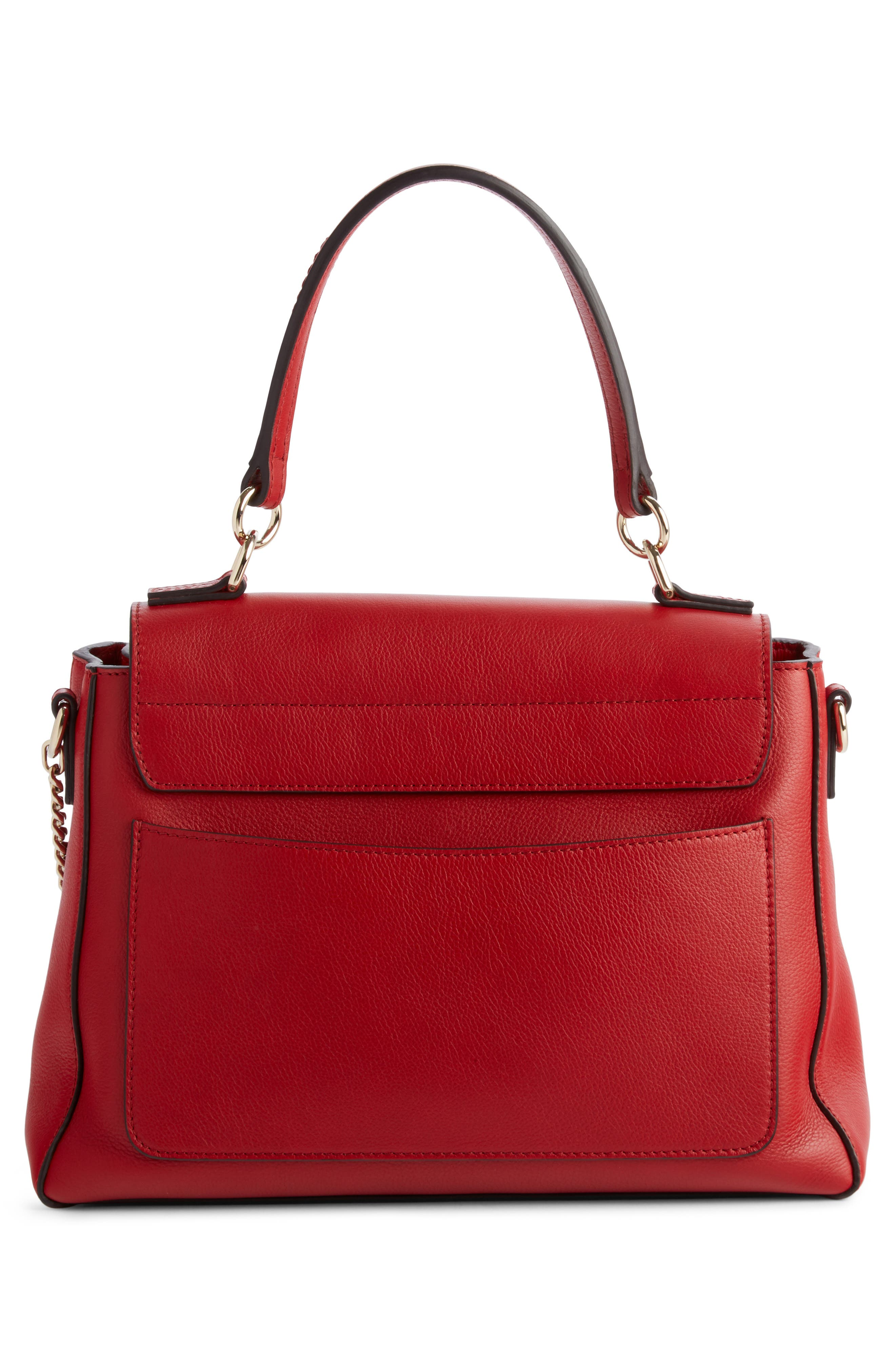 Small Faye Day Leather Shoulder Bag,                             Alternate thumbnail 2, color,                             Dahlia Red