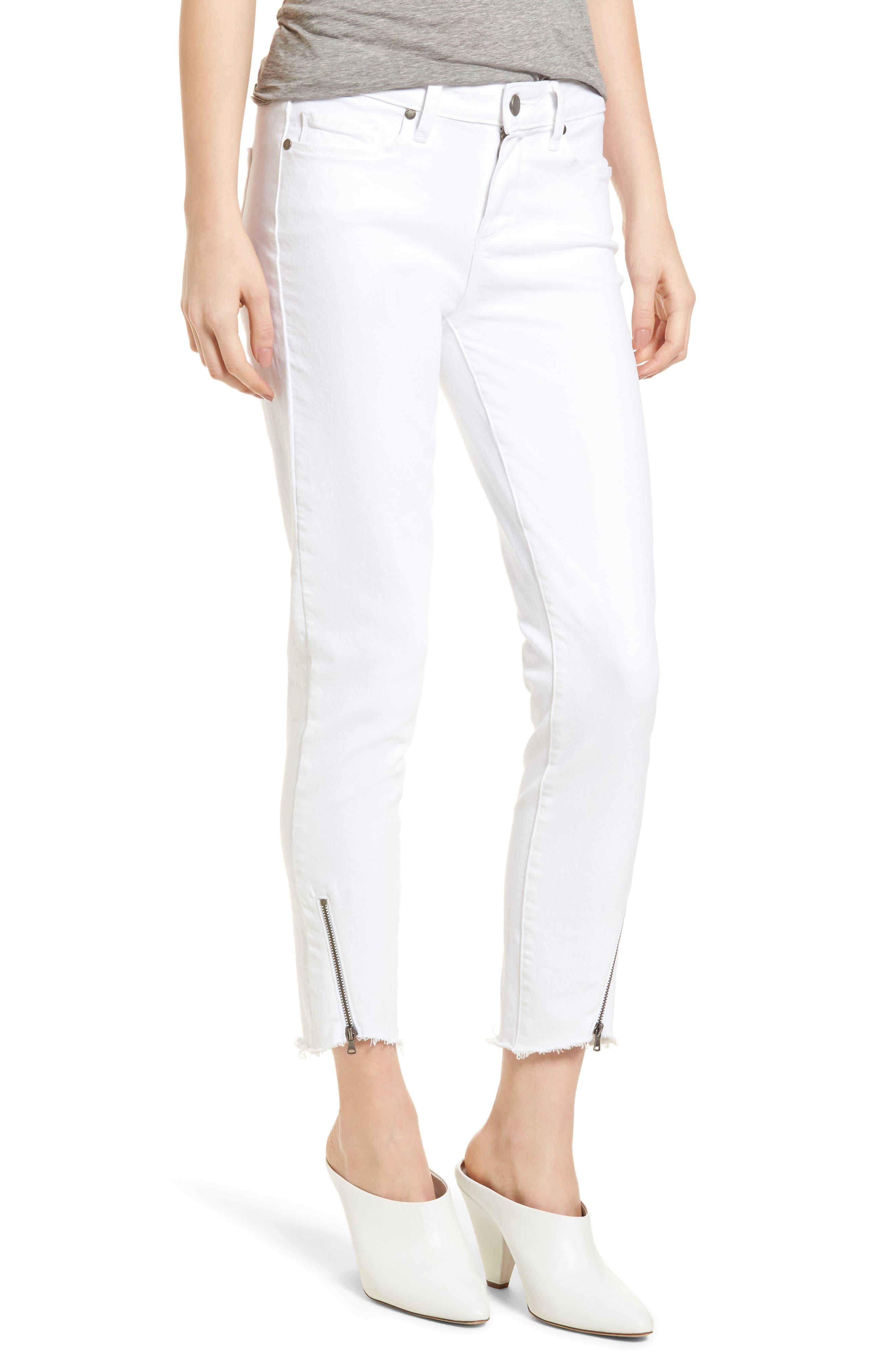 Verdugo Crop Ultra Skinny Jeans,                             Main thumbnail 1, color,                             Crisp White