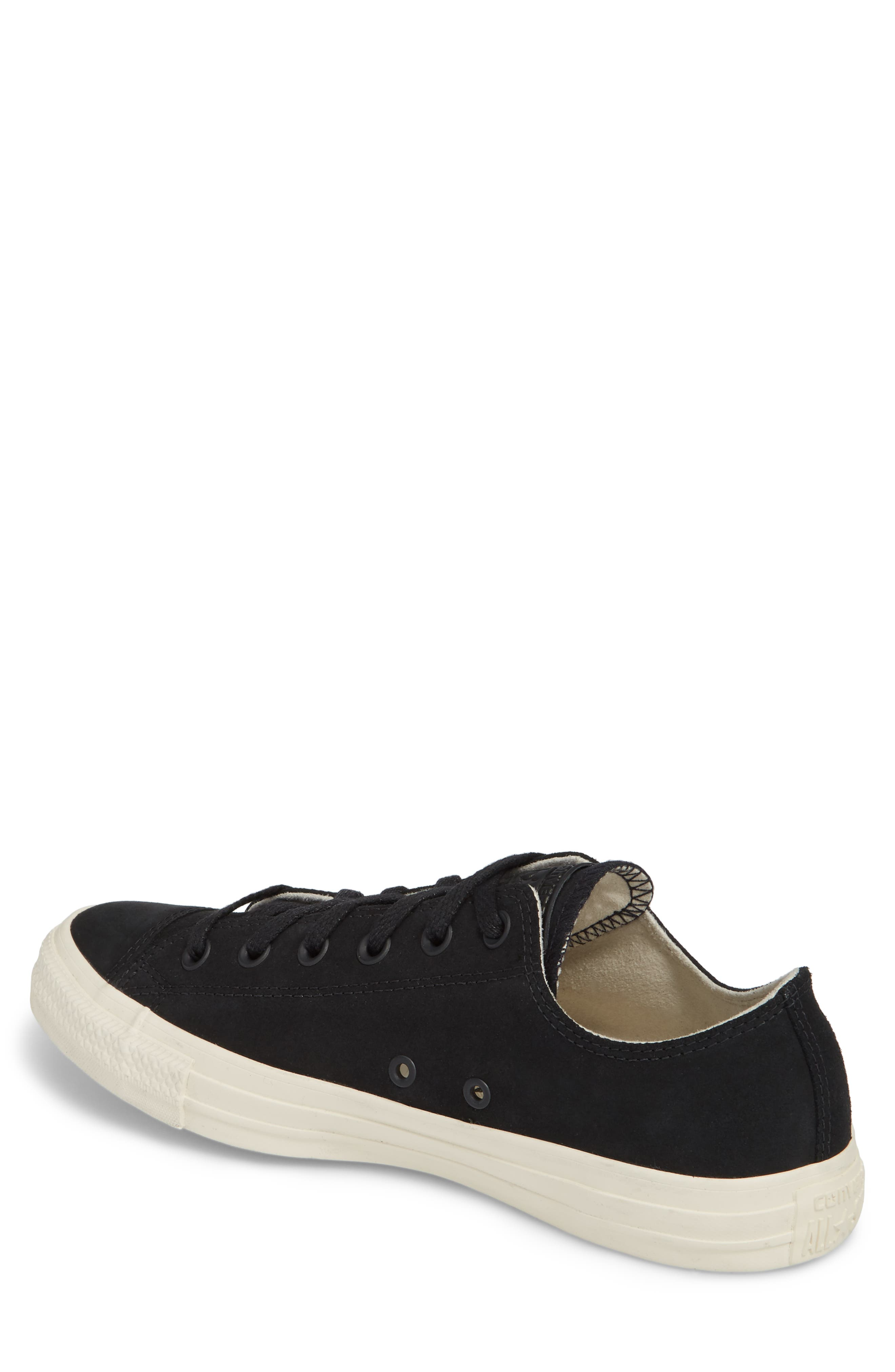 Chuck Taylor<sup>®</sup> All Star<sup>®</sup> Low Top Sneaker,                             Alternate thumbnail 2, color,                             Black Leather