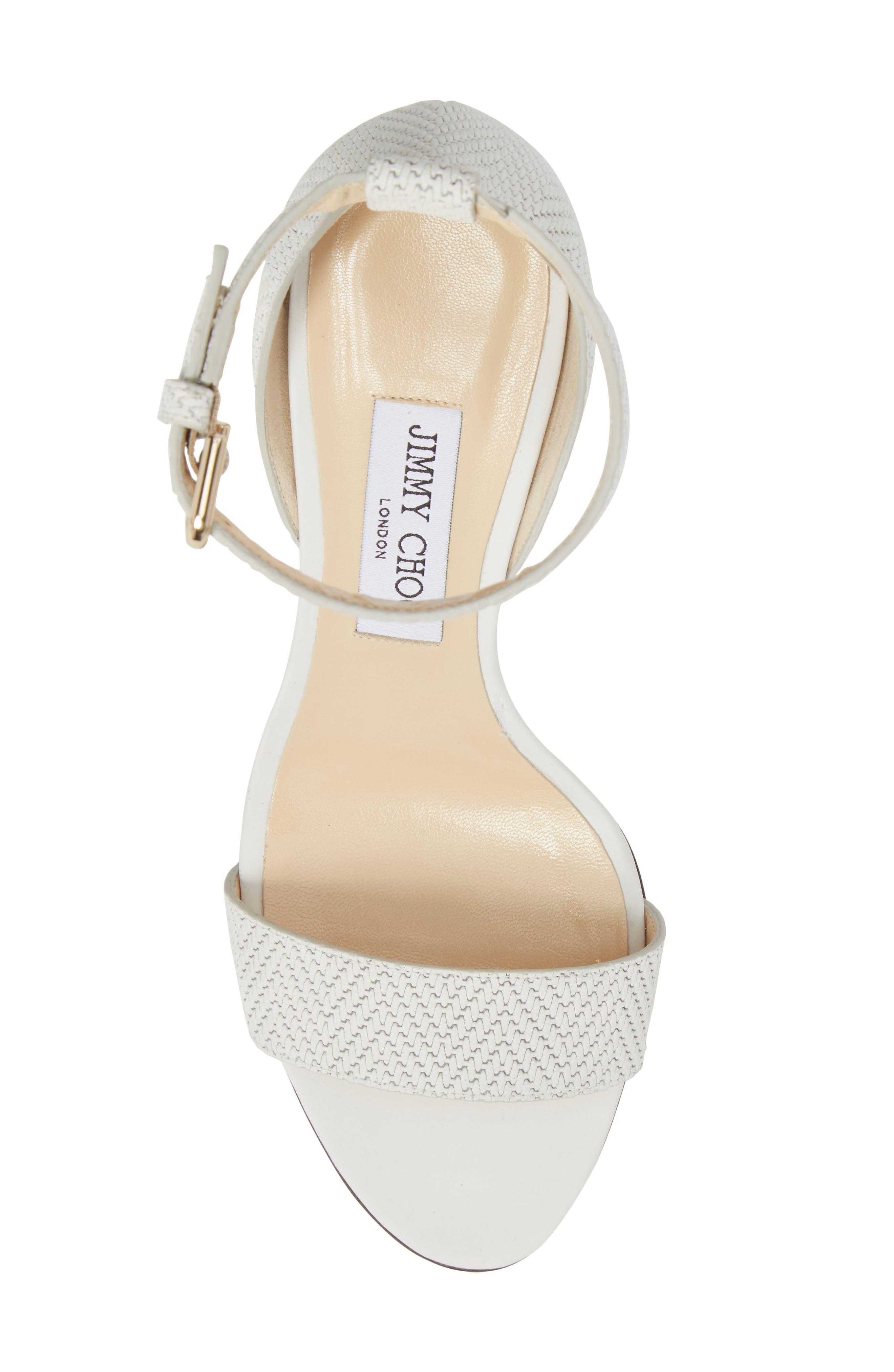Alternate Image 5  - Jimmy Choo Edina Ankle Strap Sandal (Women)
