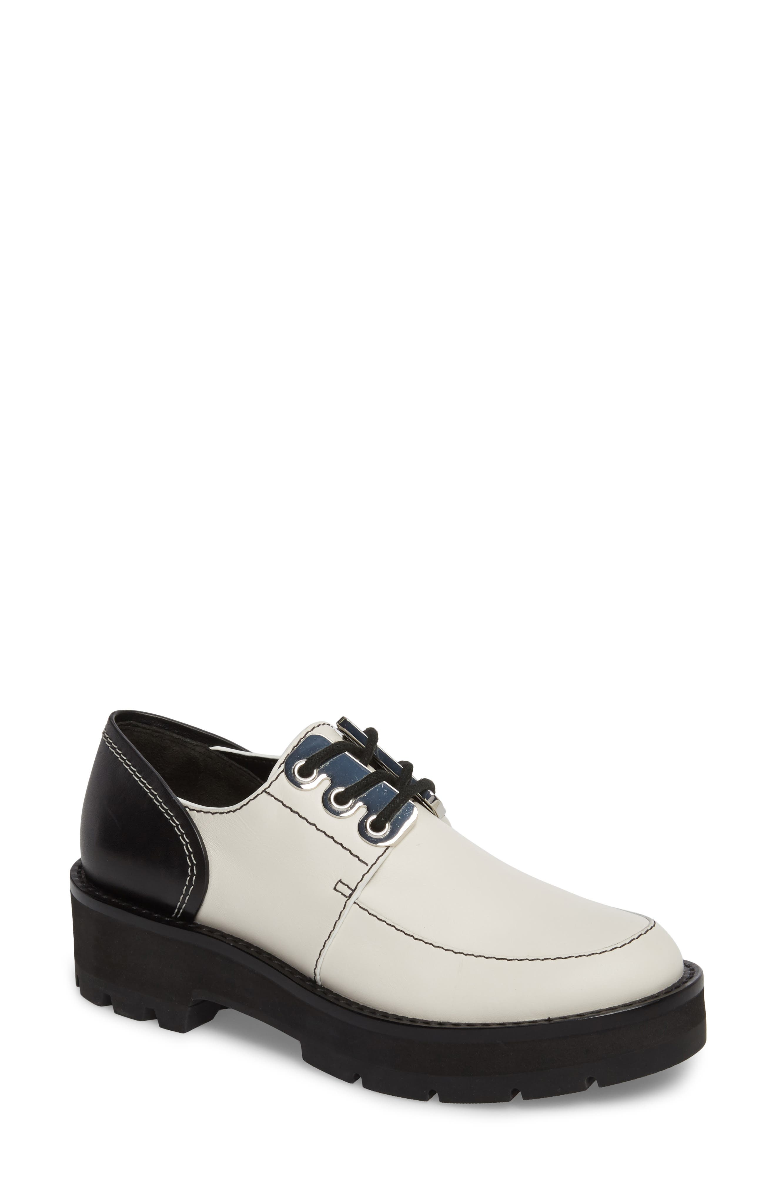 Cat Loafer,                         Main,                         color, White-Black