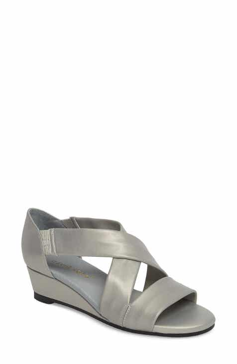 172089b85177 David Tate Swell Cross Strap Wedge Sandal (Women)