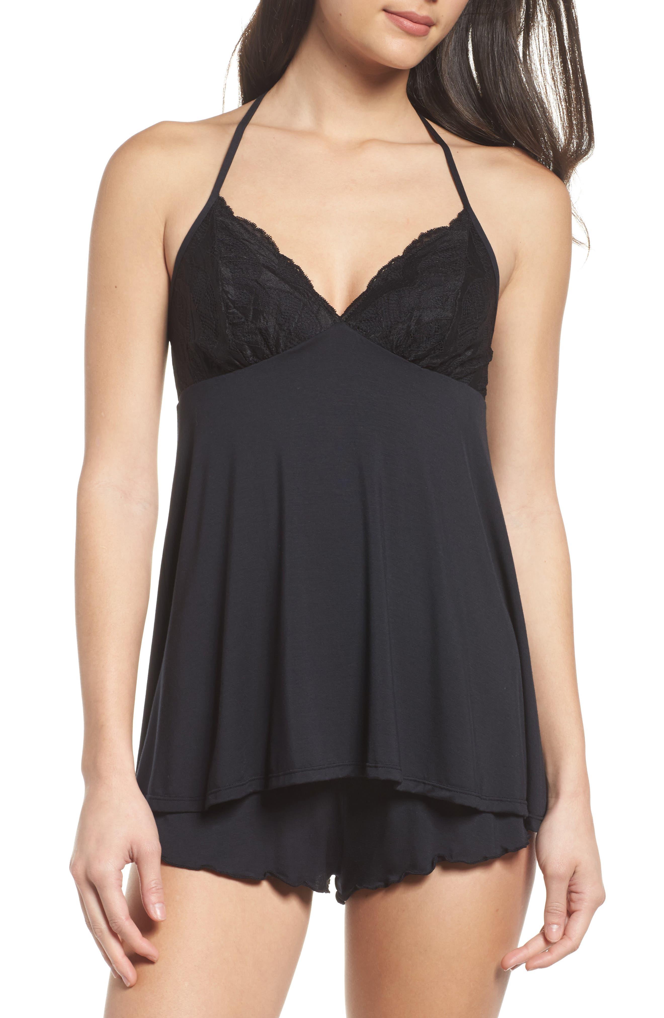 Black Bow Monie Short Pajamas