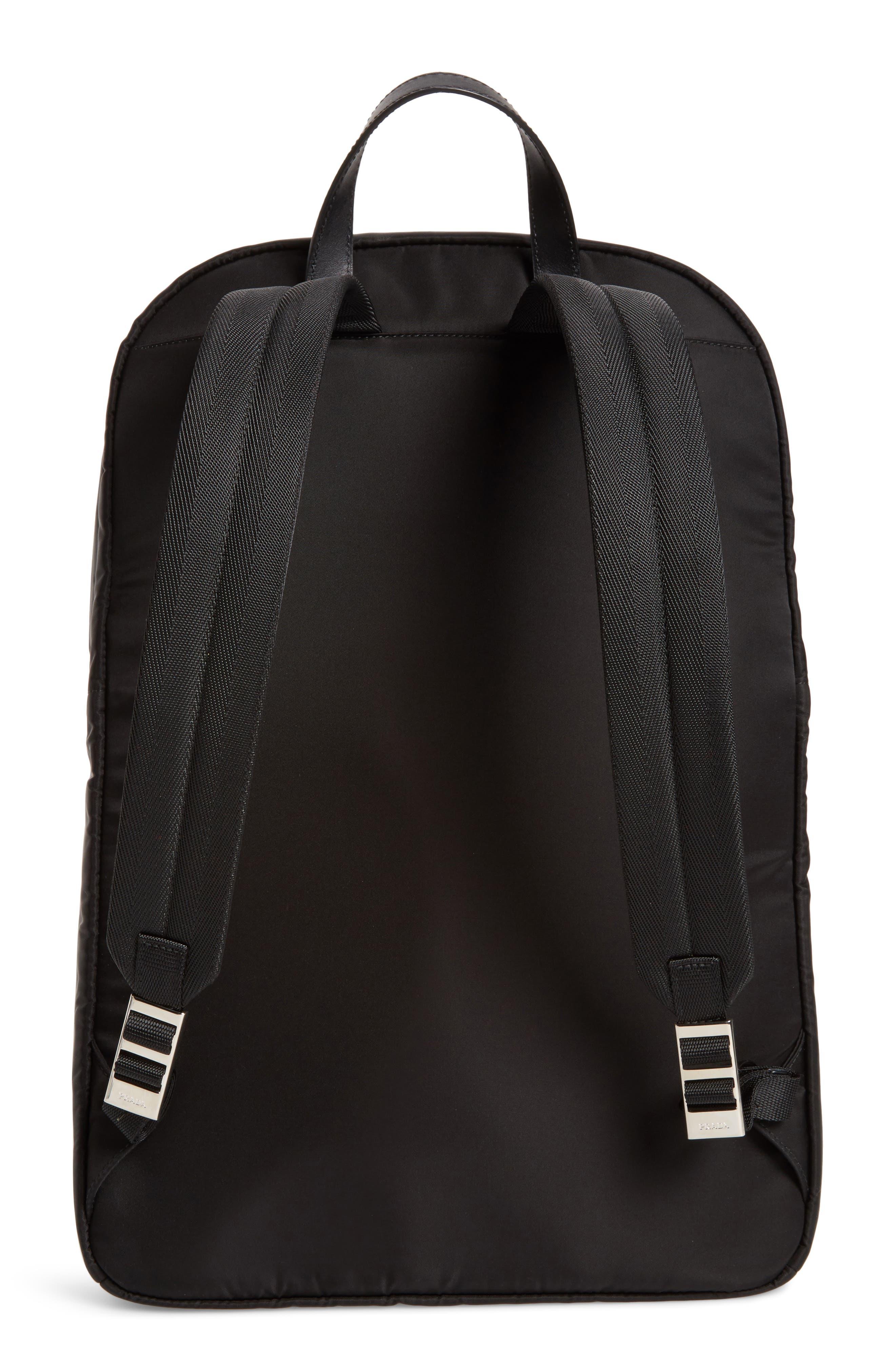 Nylon Backpack,                             Alternate thumbnail 3, color,                             Black