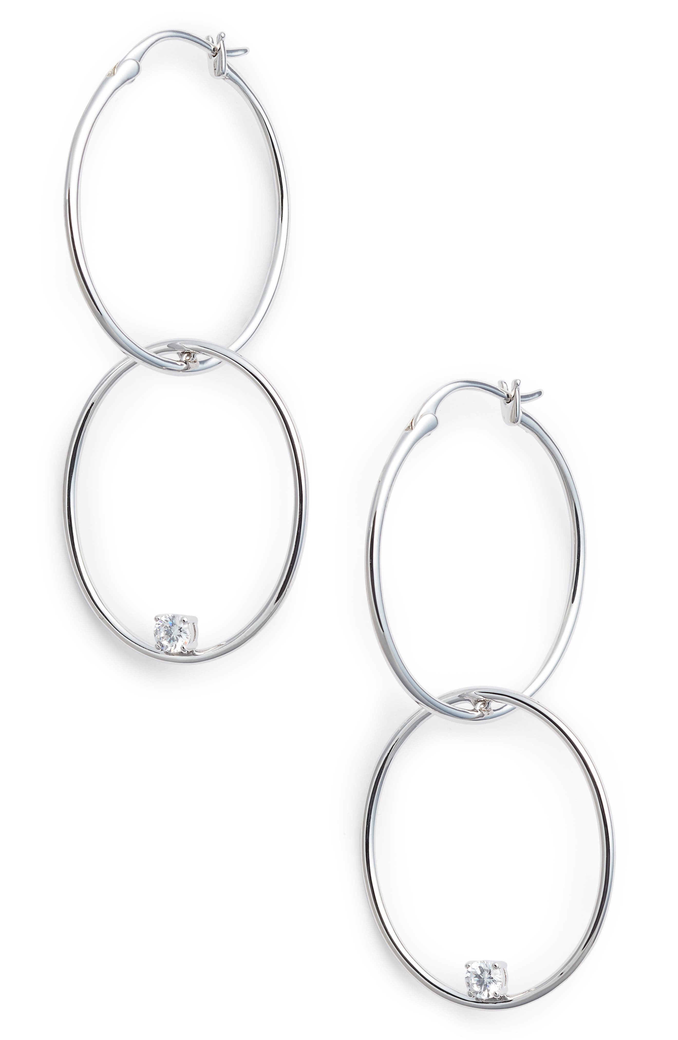 Drop Earrings,                         Main,                         color, Silver
