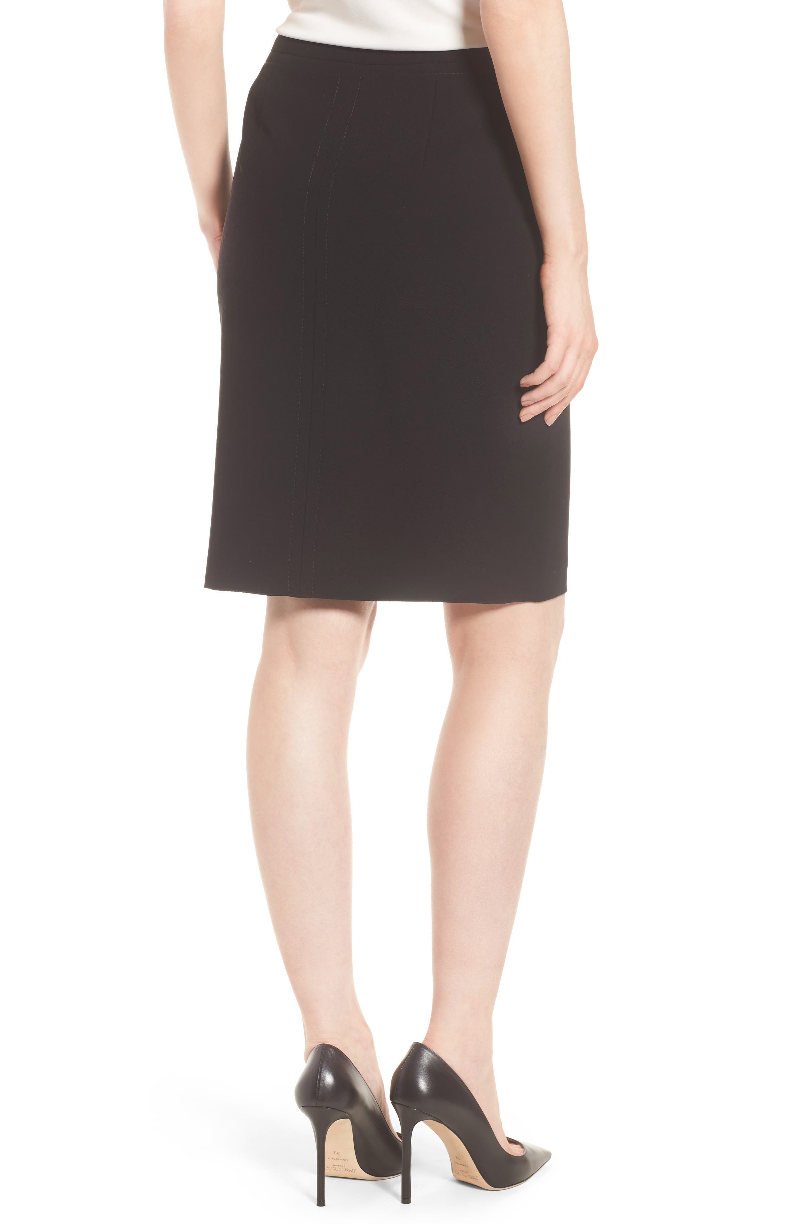 Vuriona Pencil Skirt,                             Alternate thumbnail 2, color,                             Black