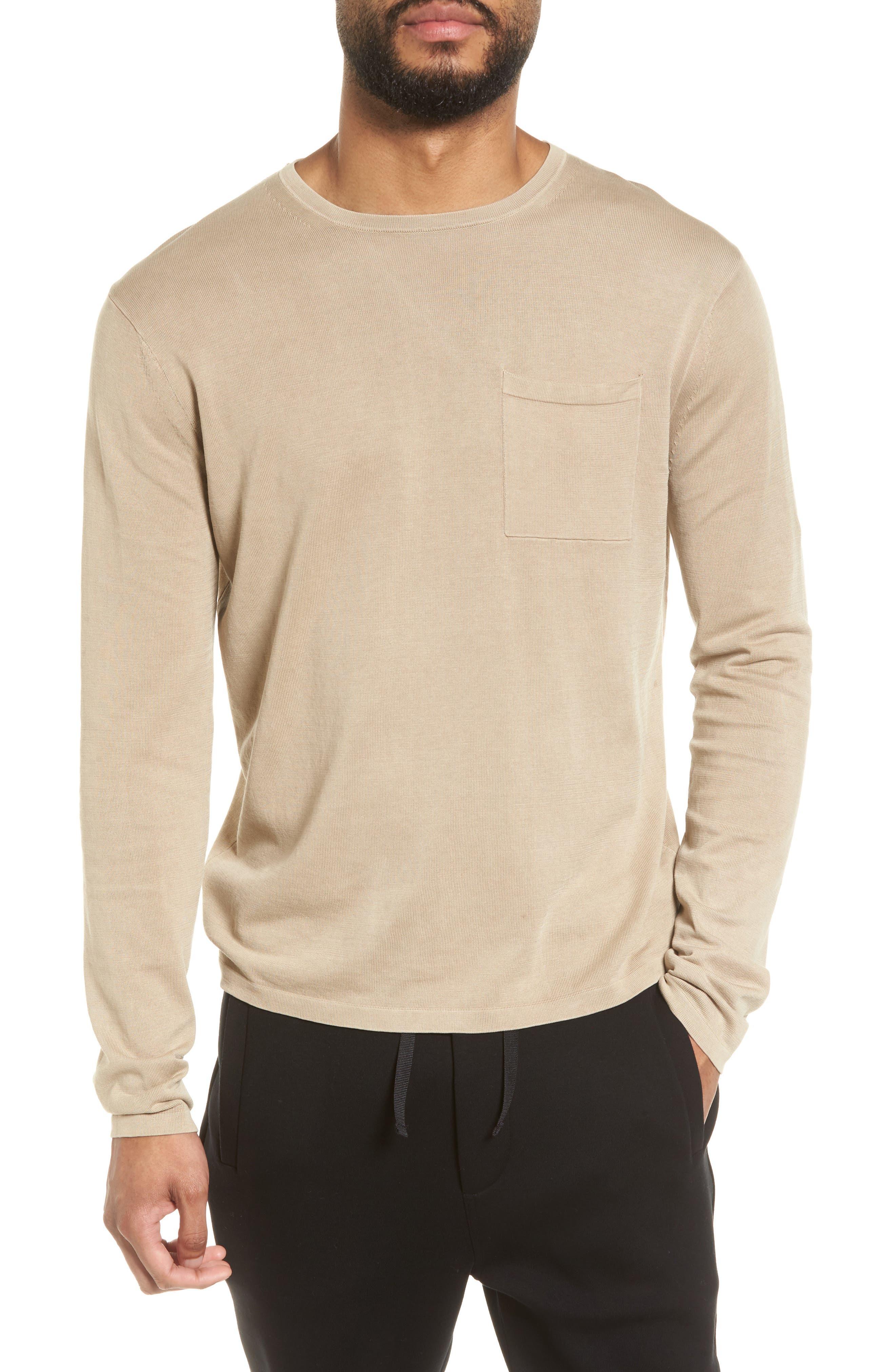 Vince Long Sleeve Pocket T-Shirt