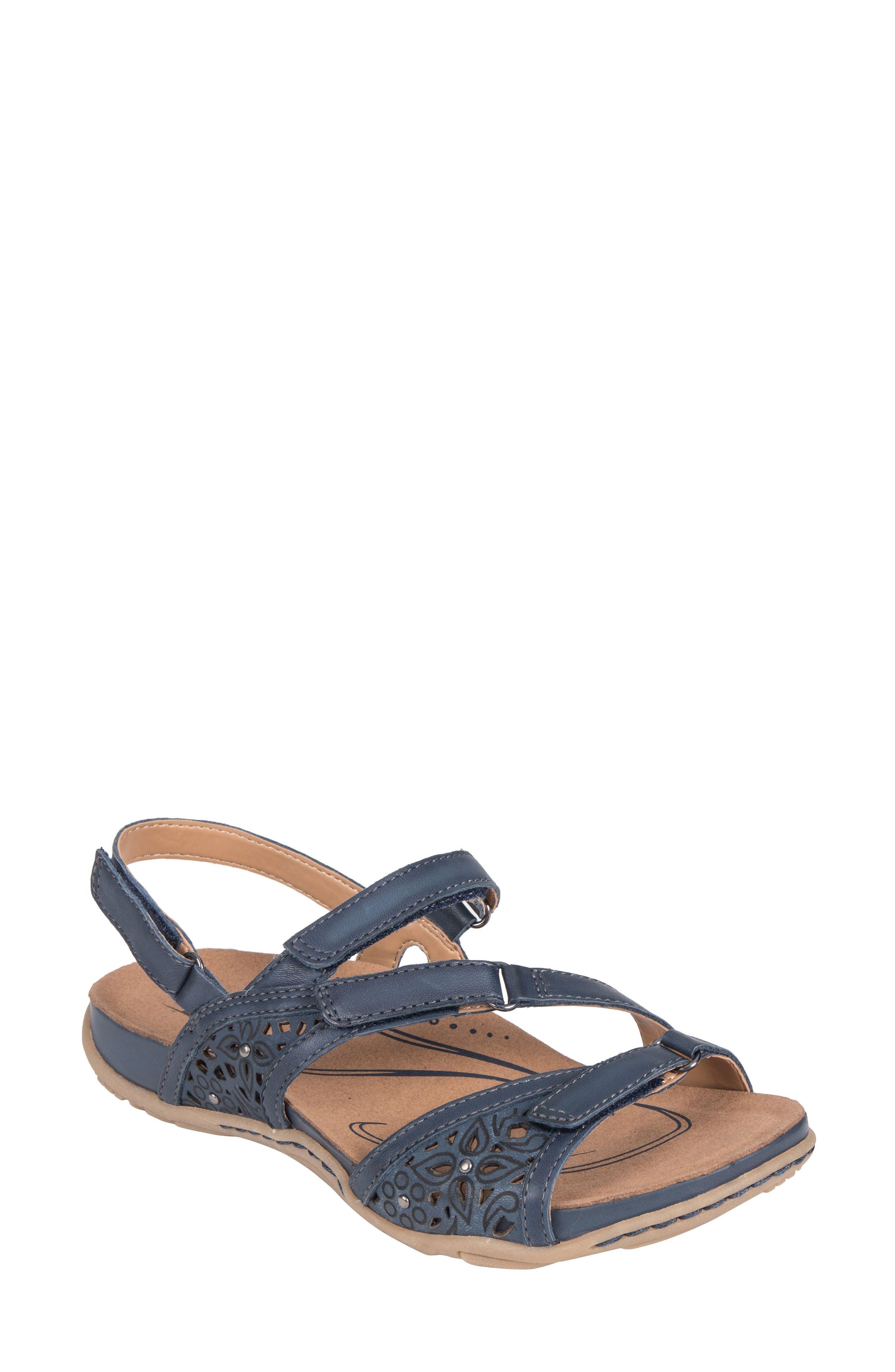 Maui Strappy Sandal,                             Main thumbnail 1, color,                             Indigo Blue Leather