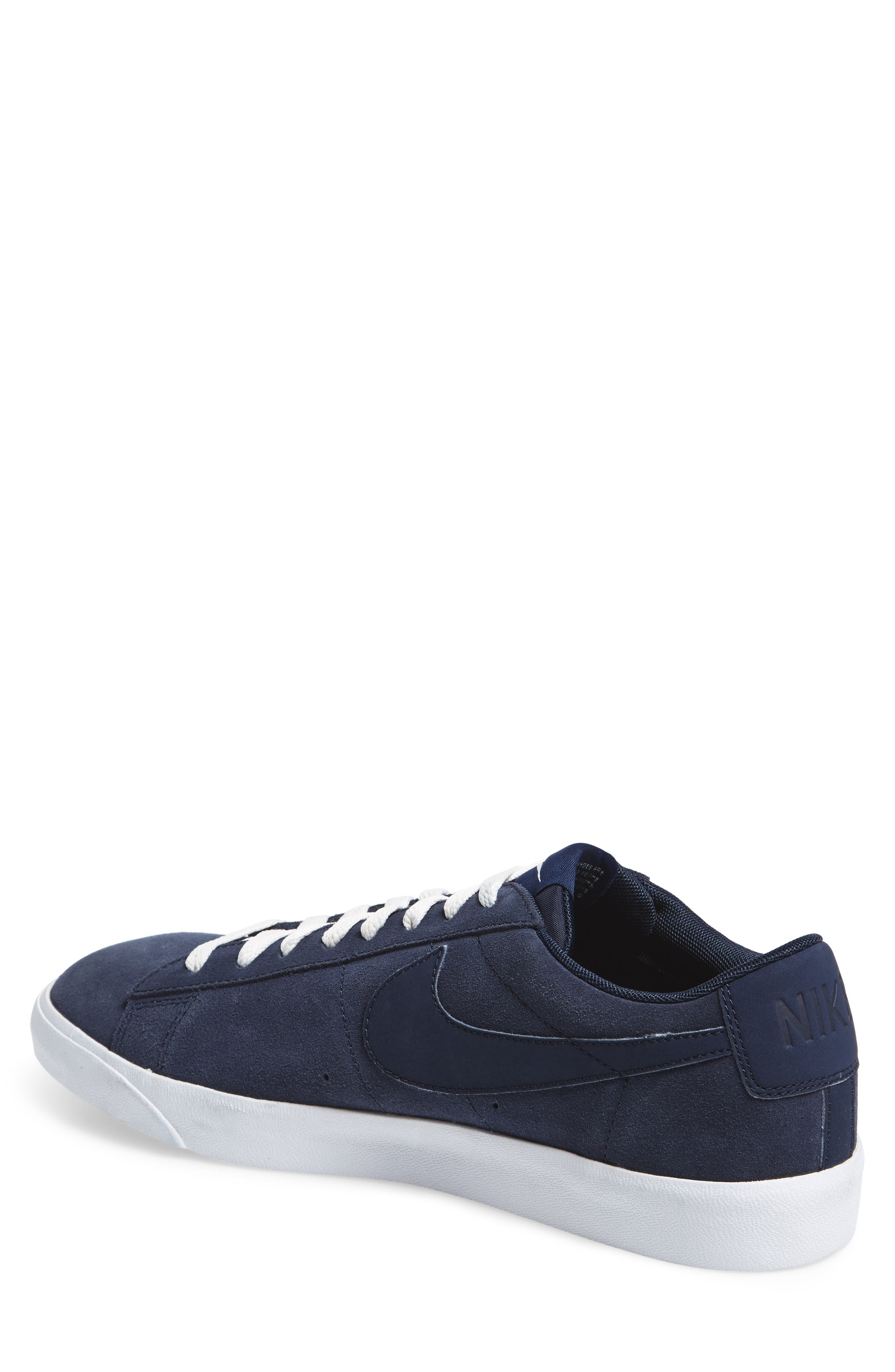 Blazer Low Suede Sneaker,                             Alternate thumbnail 2, color,                             Obsidian/ Sail/ Brown