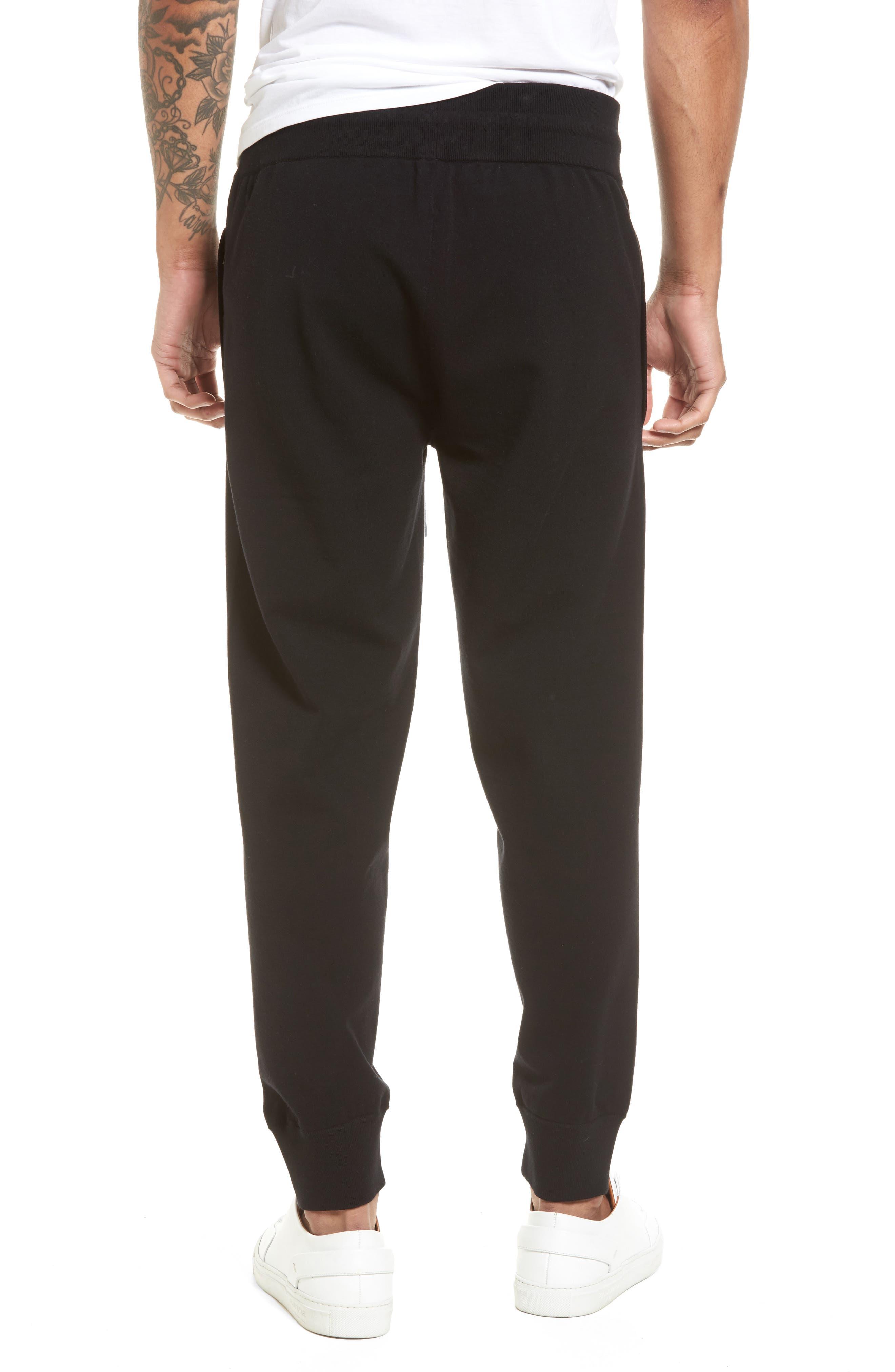 Slim Fit Jogger Pants,                             Alternate thumbnail 2, color,                             Black