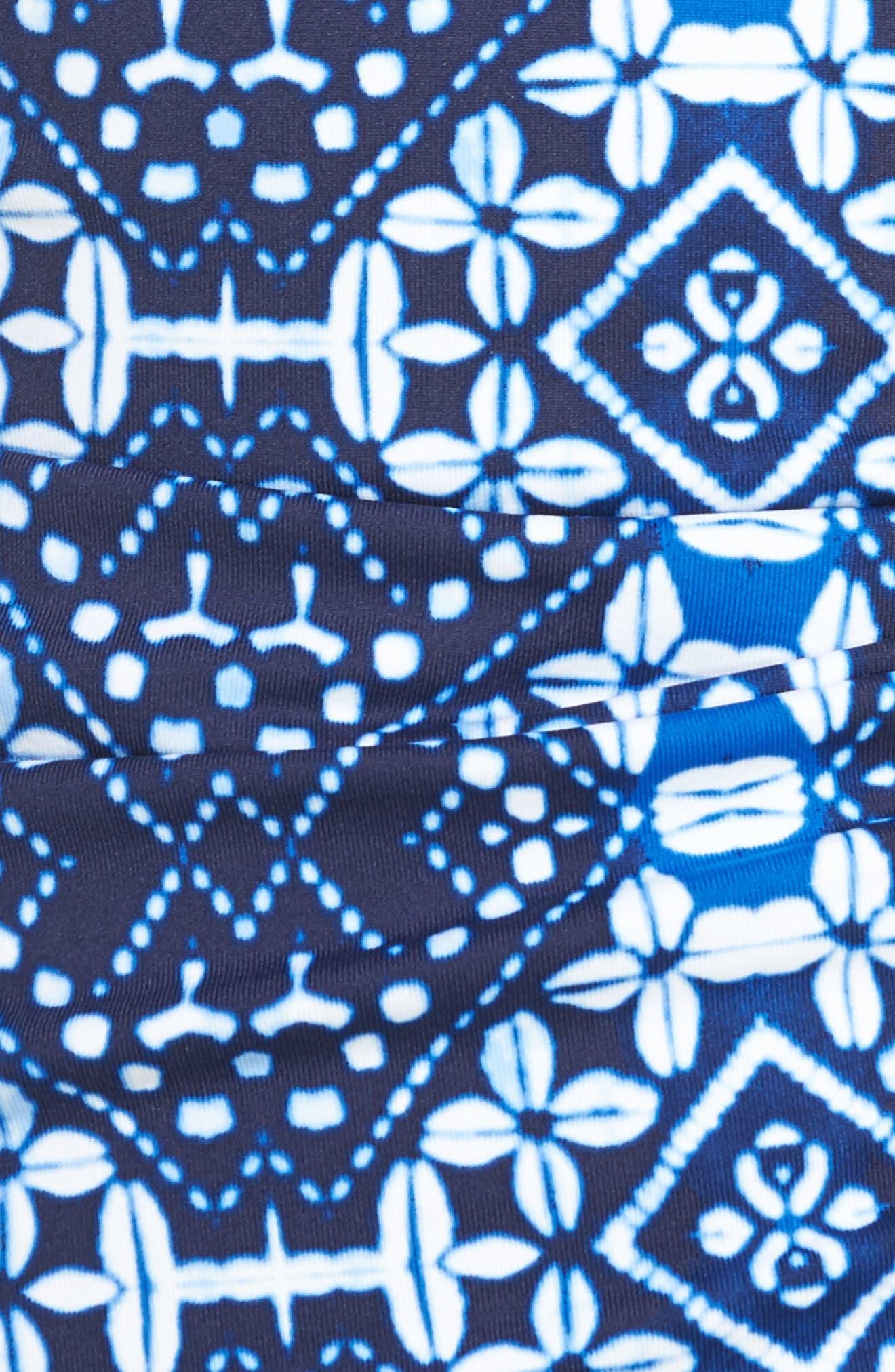 Indigo Cowrie Tankini Top,                             Alternate thumbnail 5, color,                             Mare