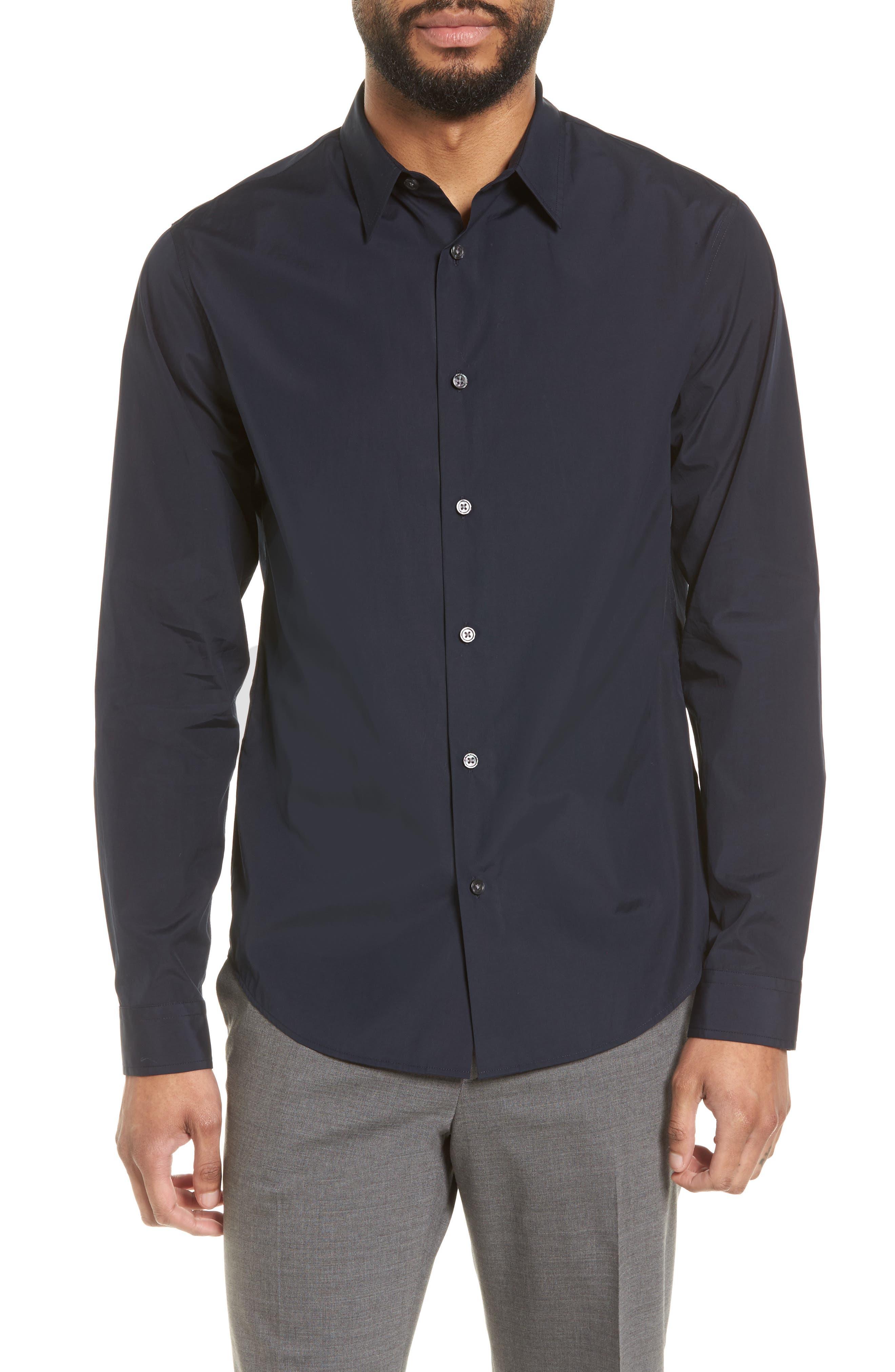Poplin Slim Fit Sport Shirt,                         Main,                         color, New Coastal