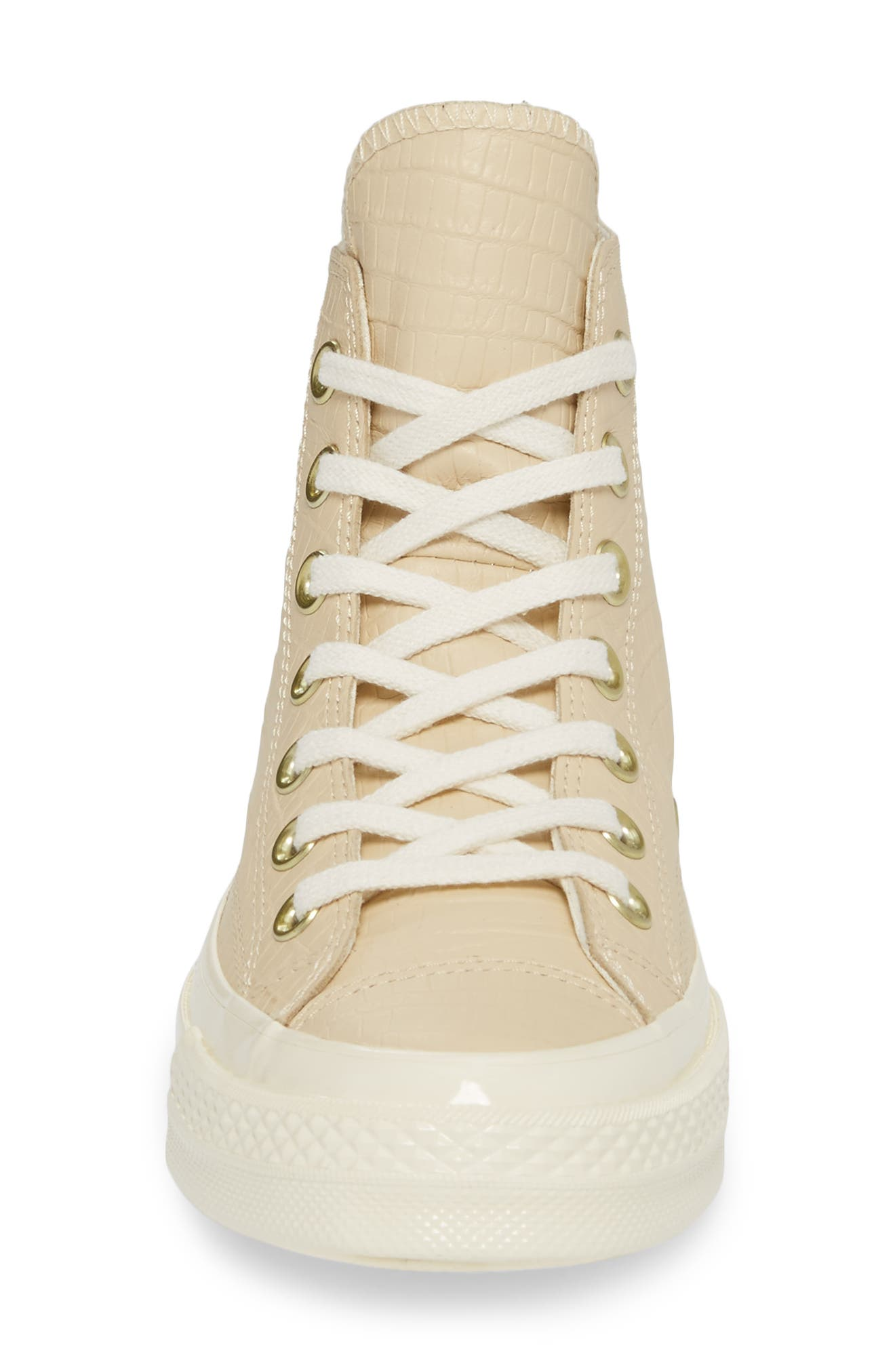 Chuck Taylor<sup>®</sup> All Star<sup>®</sup> CT 70 Reptile High Top Sneaker,                             Alternate thumbnail 4, color,                             Light Twine
