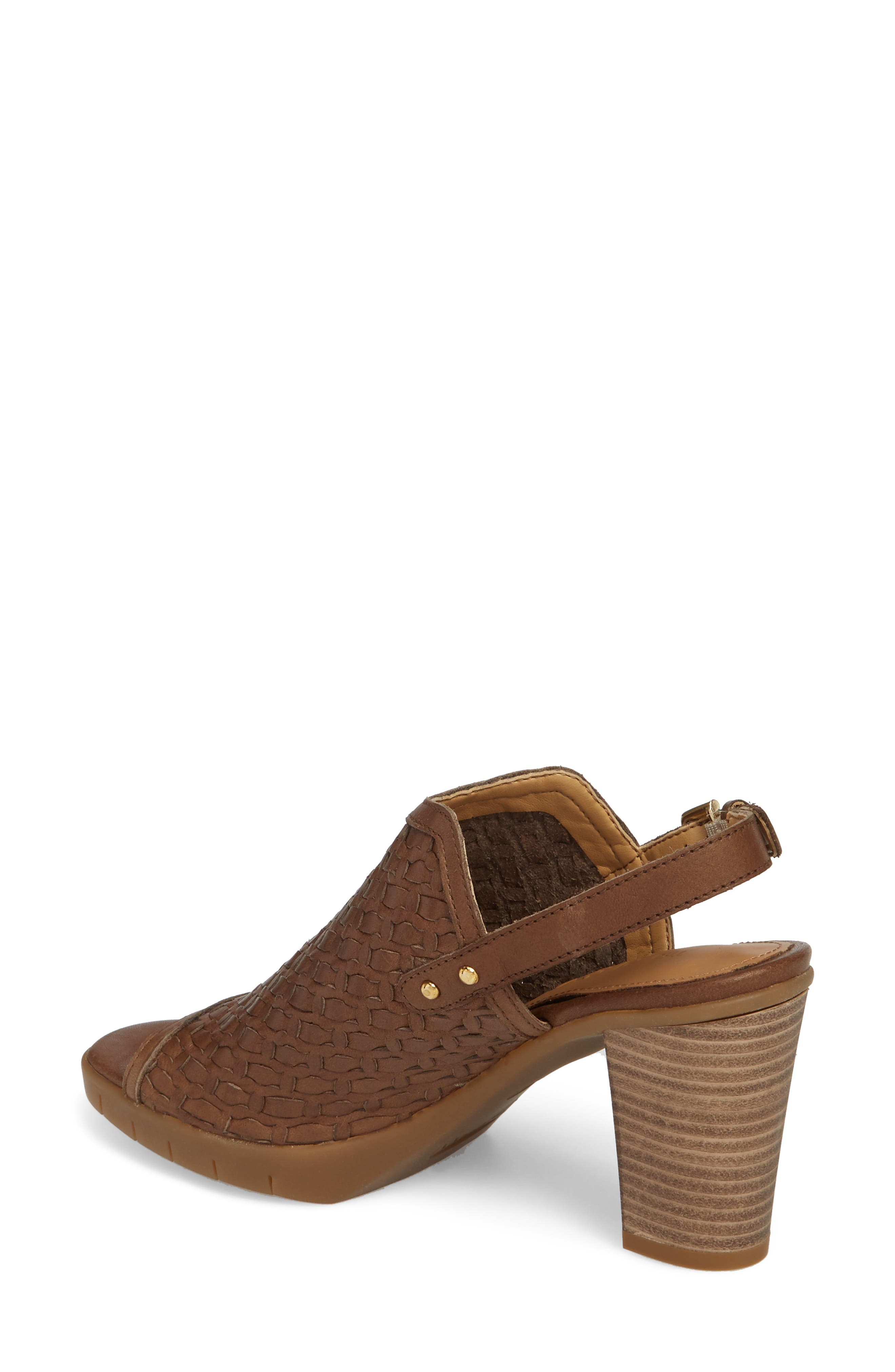 Weave Me Be Slingback Sandal,                             Alternate thumbnail 2, color,                             Chocolate Leather